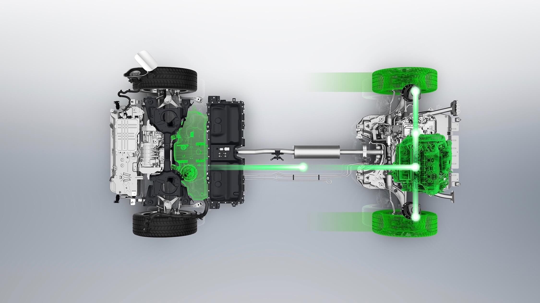 Peugeot 3008 Hybride drivetrain