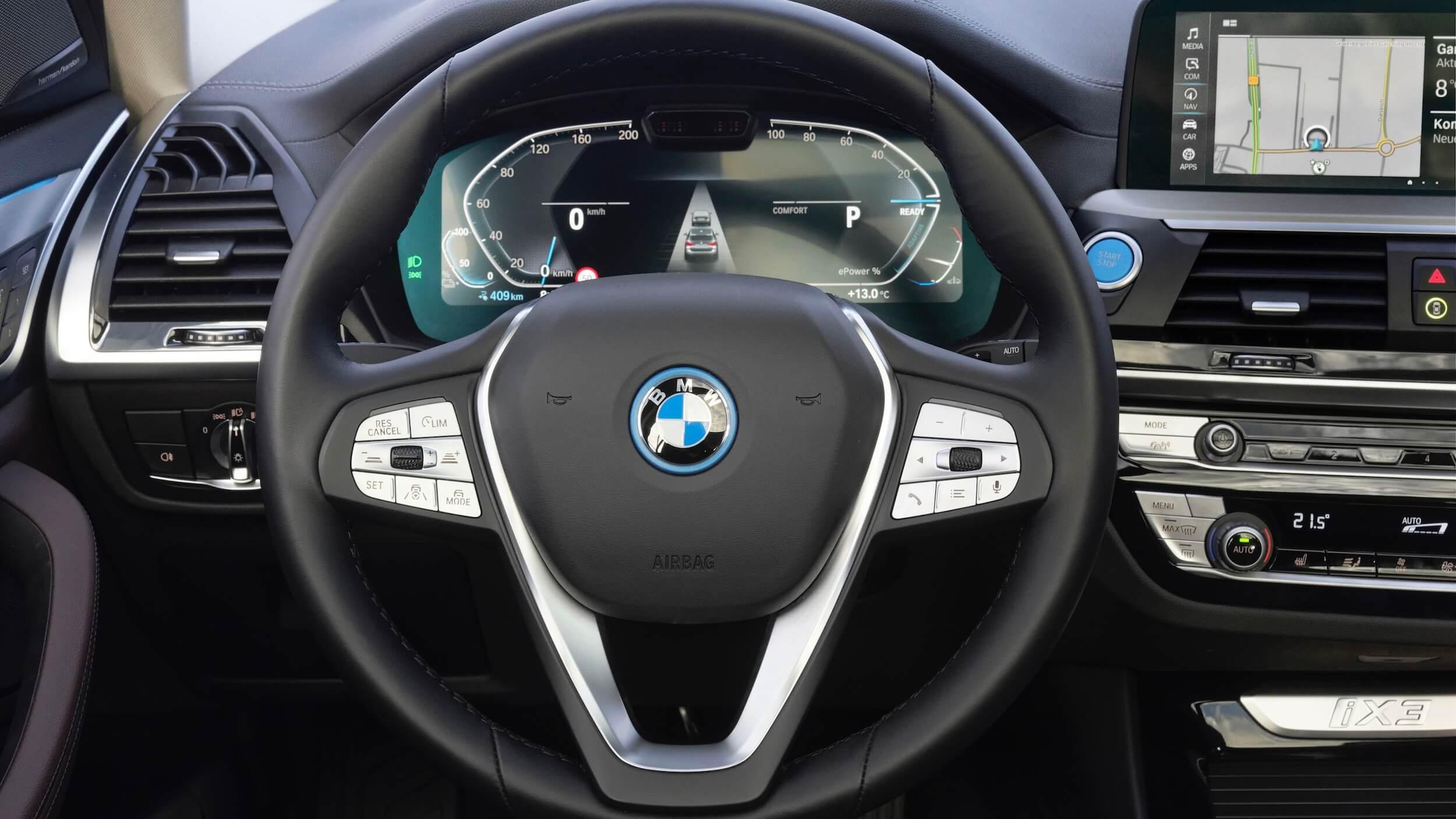 BMW iX3 stuur