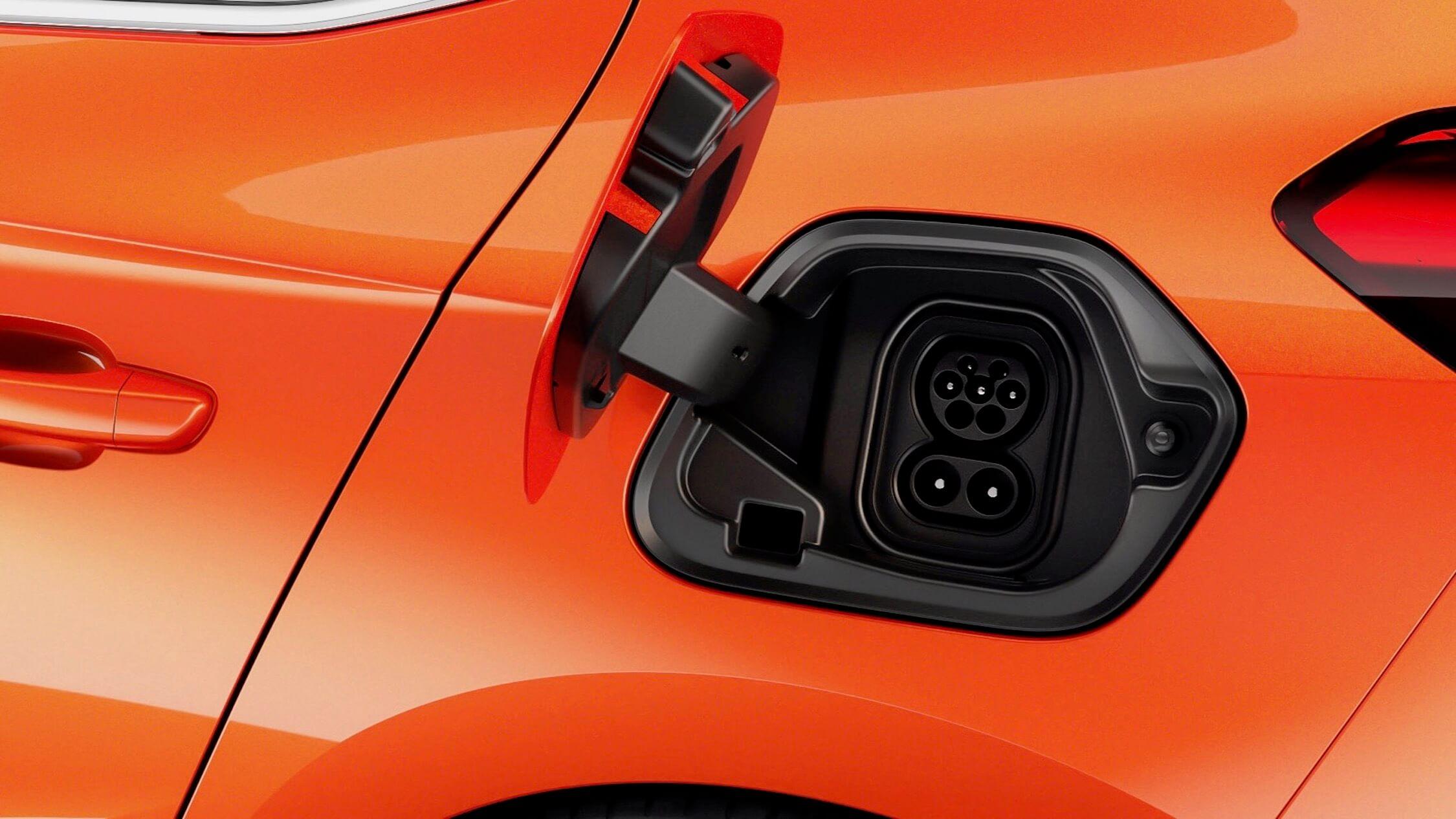 Elektrische Opel Corsa CCS plug