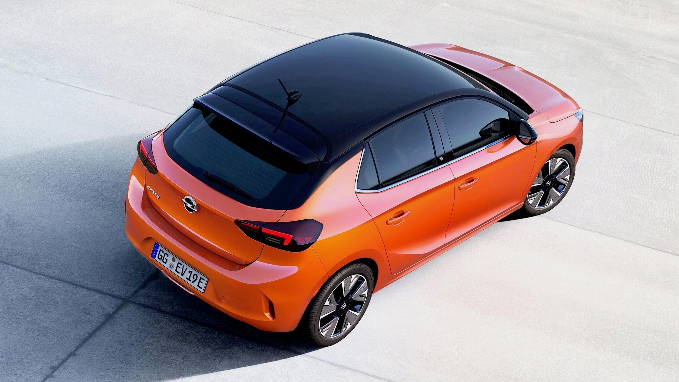 Elektrische Opel Corsa dak