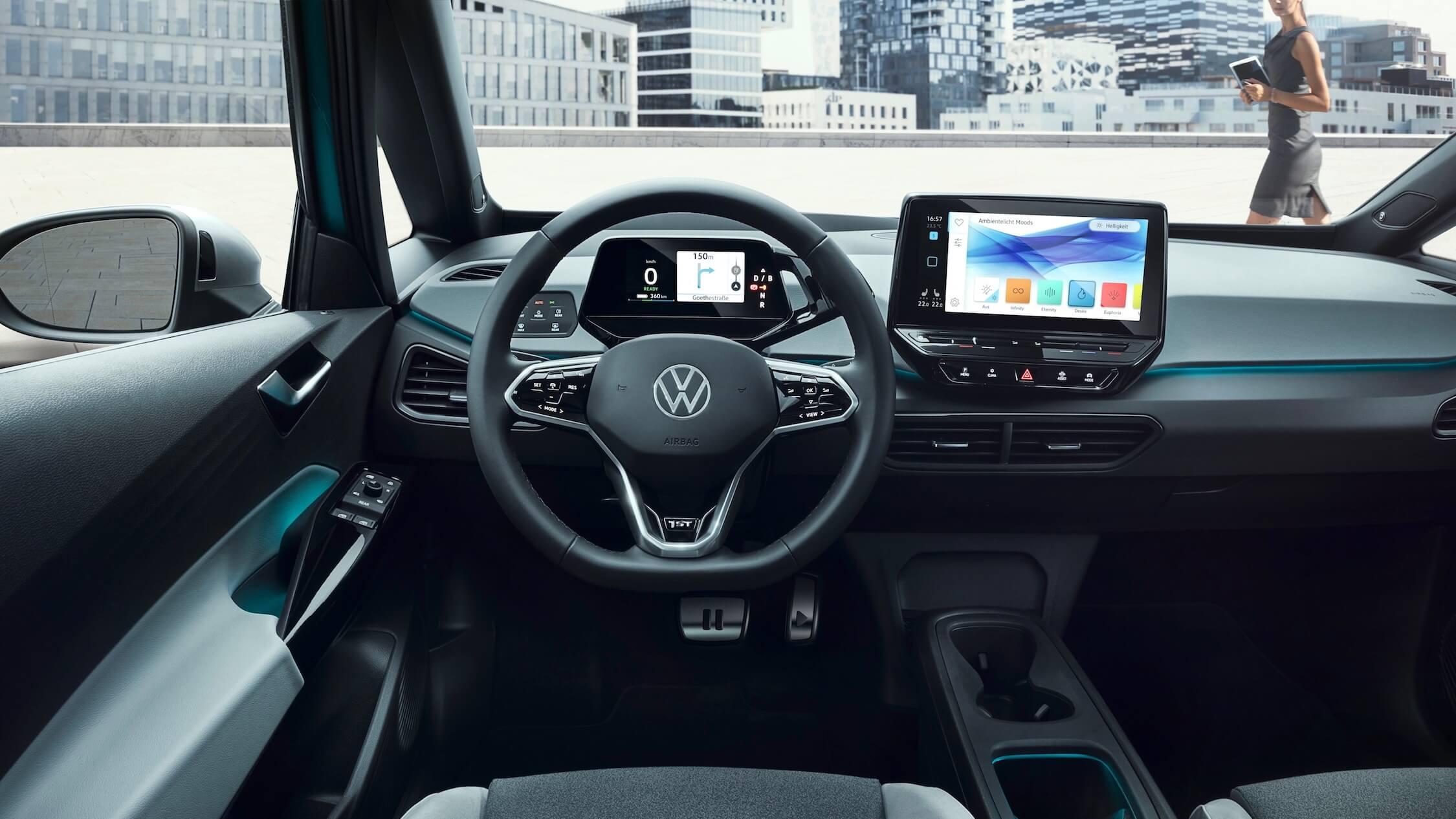 Elektrische VW ID 3 interieur