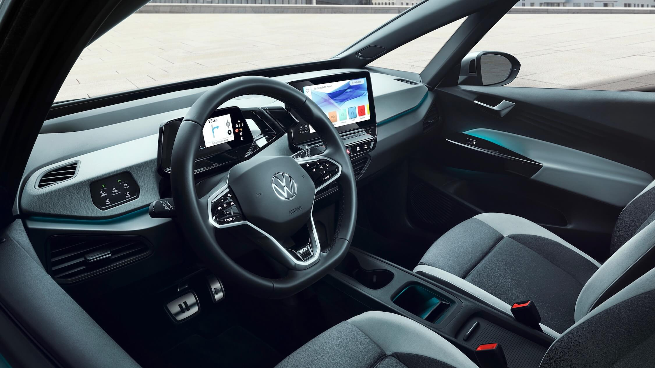 Elektrische Volkswagen ID 3 stuur