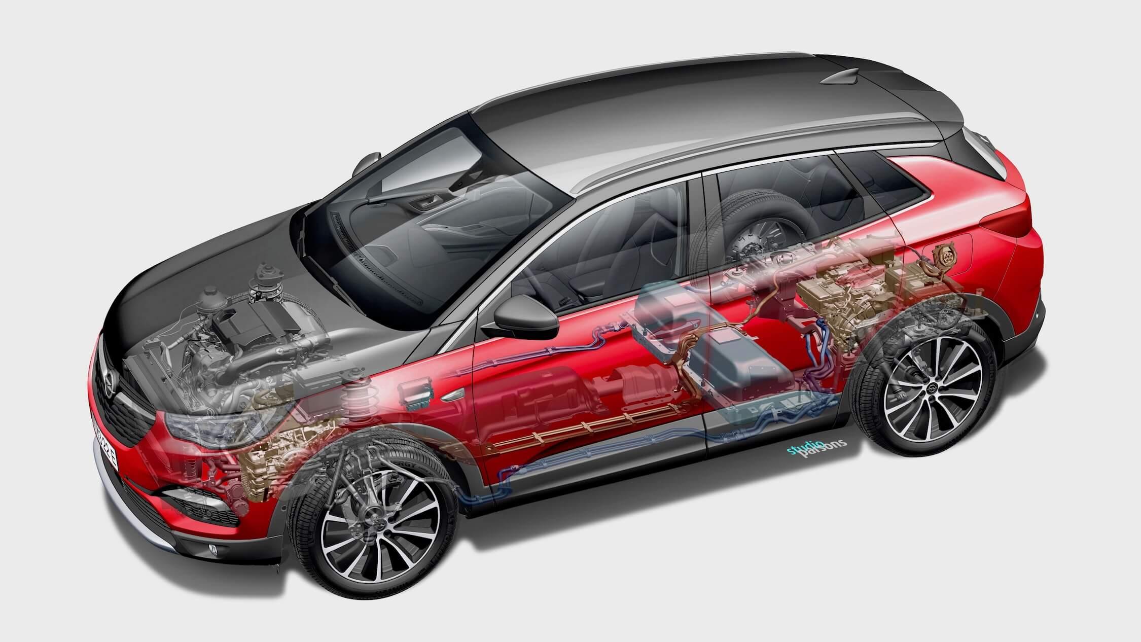 Opel Grandland hybride batterij