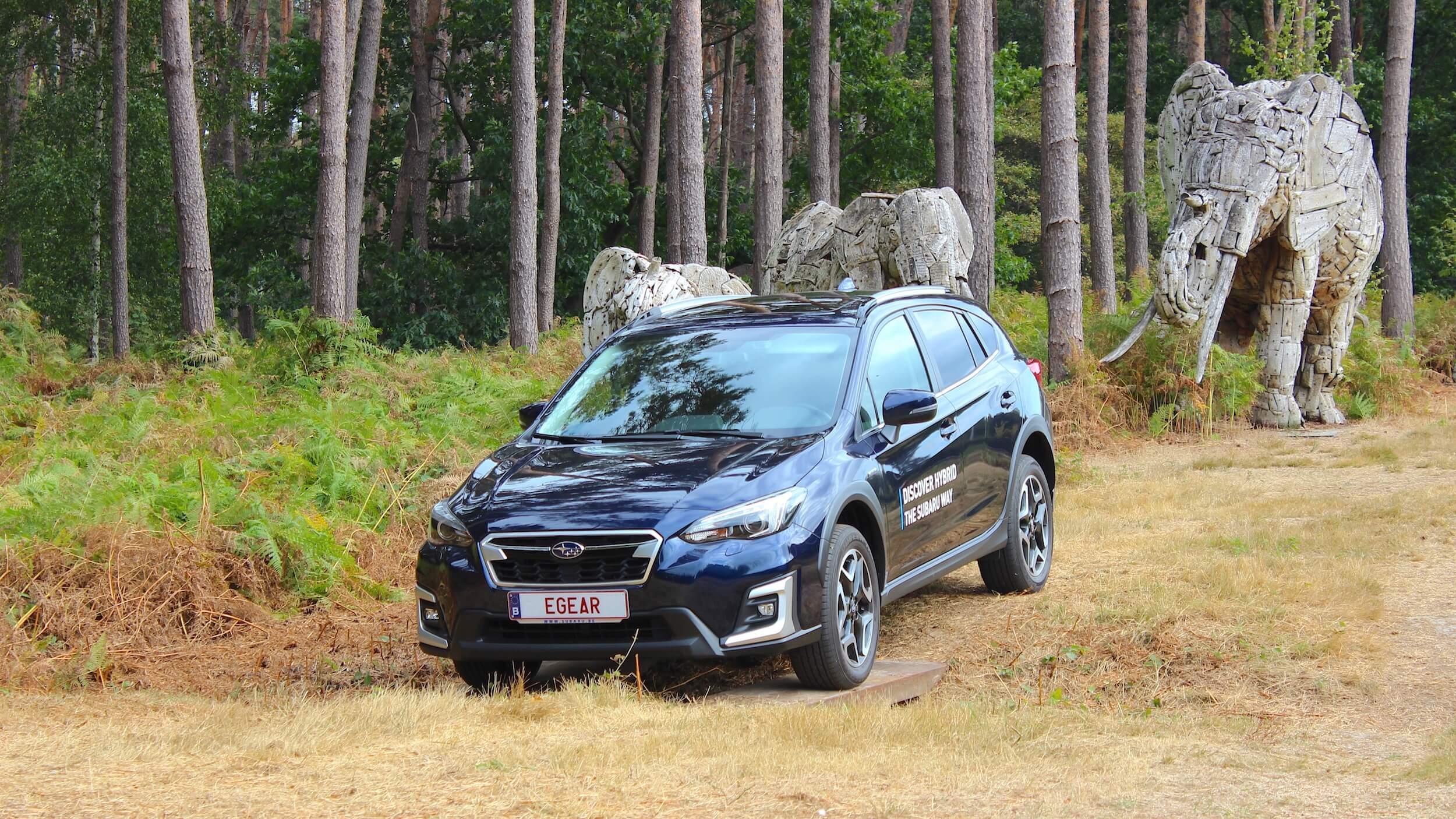 Subaru XV hybrid offroad driving