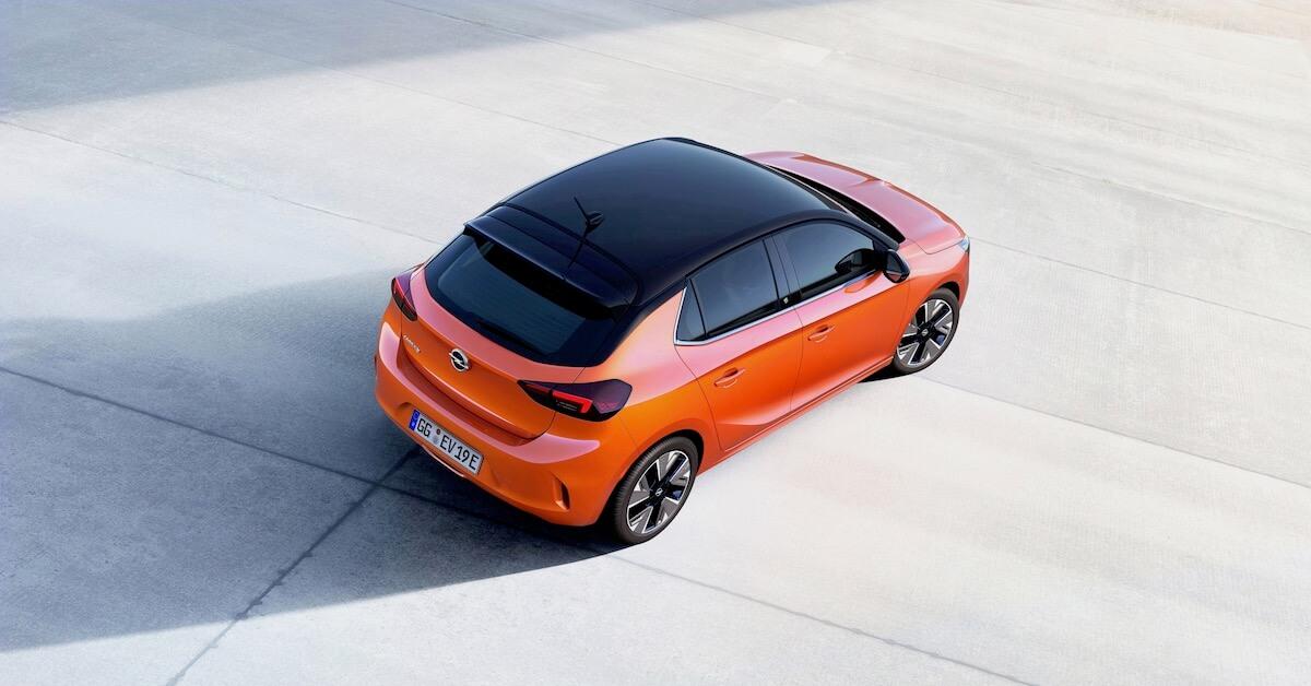 Elektrische Opel Corsa-e zwart dak