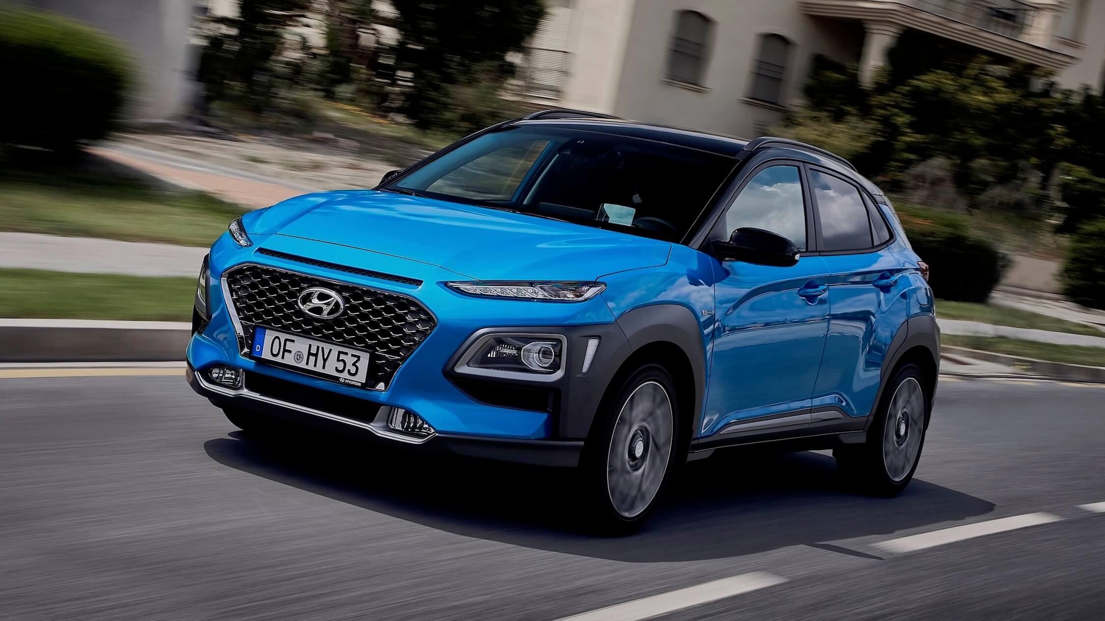 Hyundai Kona Hybrid blauw