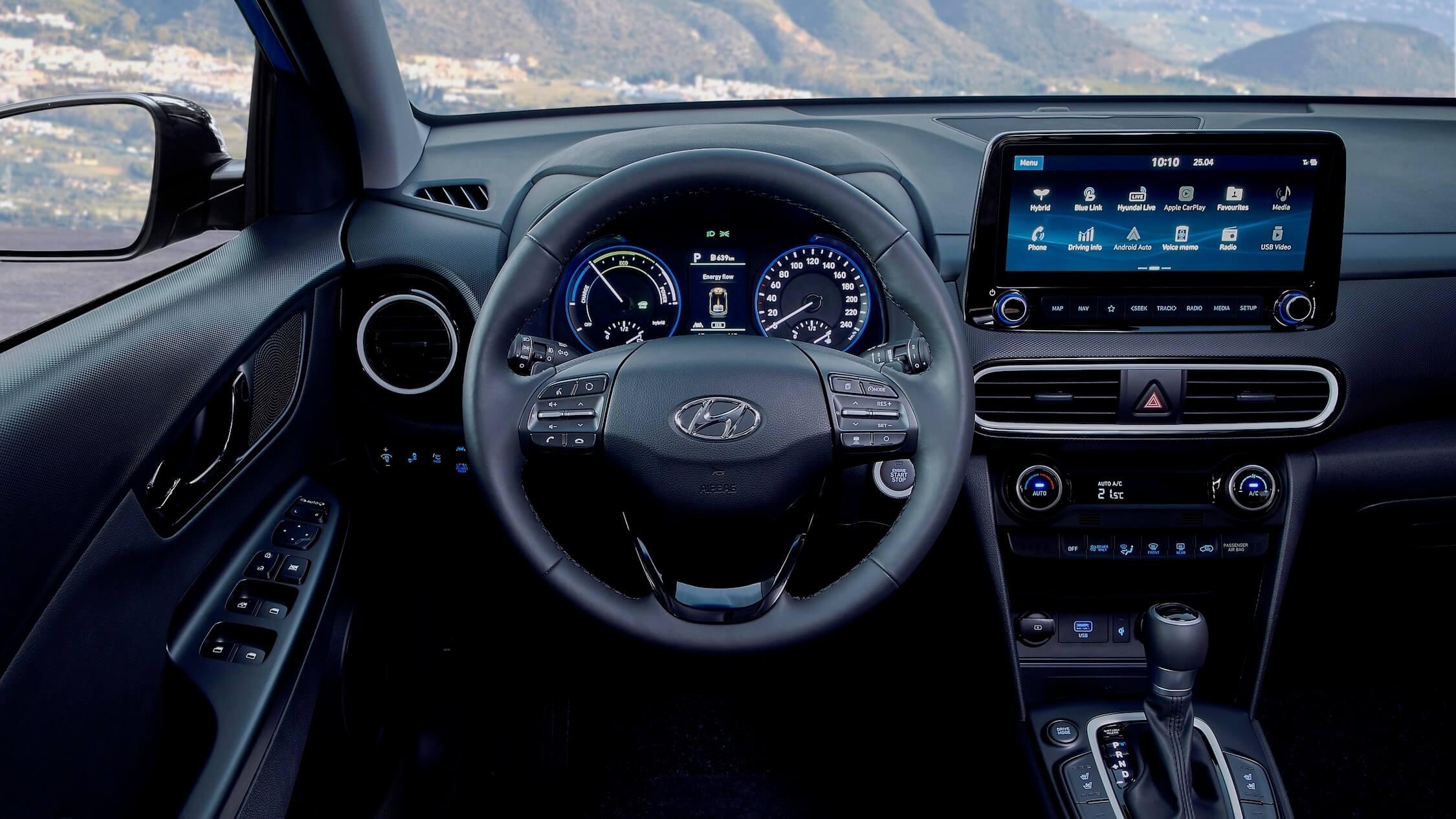Hyundai Kona Hybride stuur