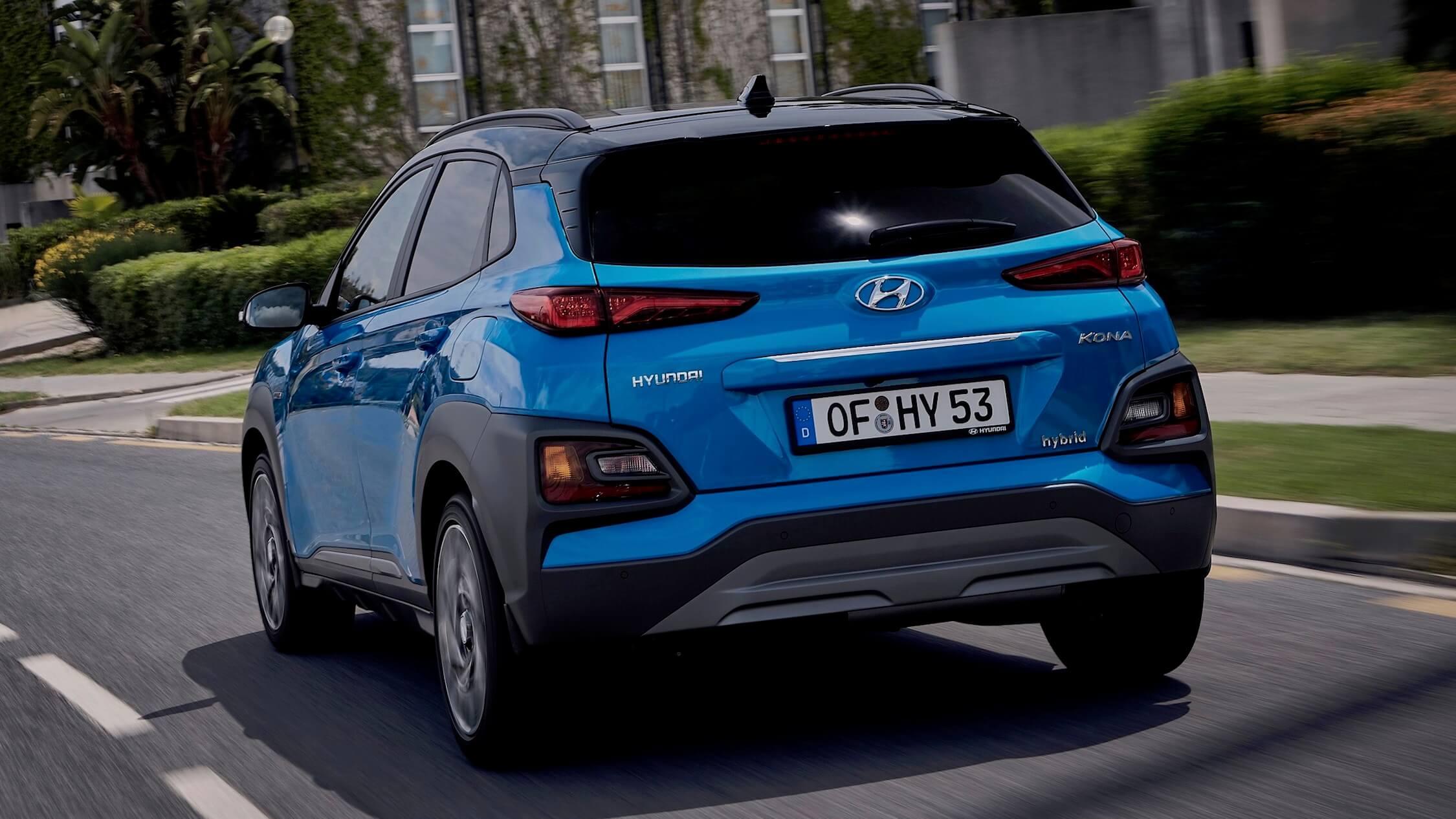Hyundai Kona hybride achterkant