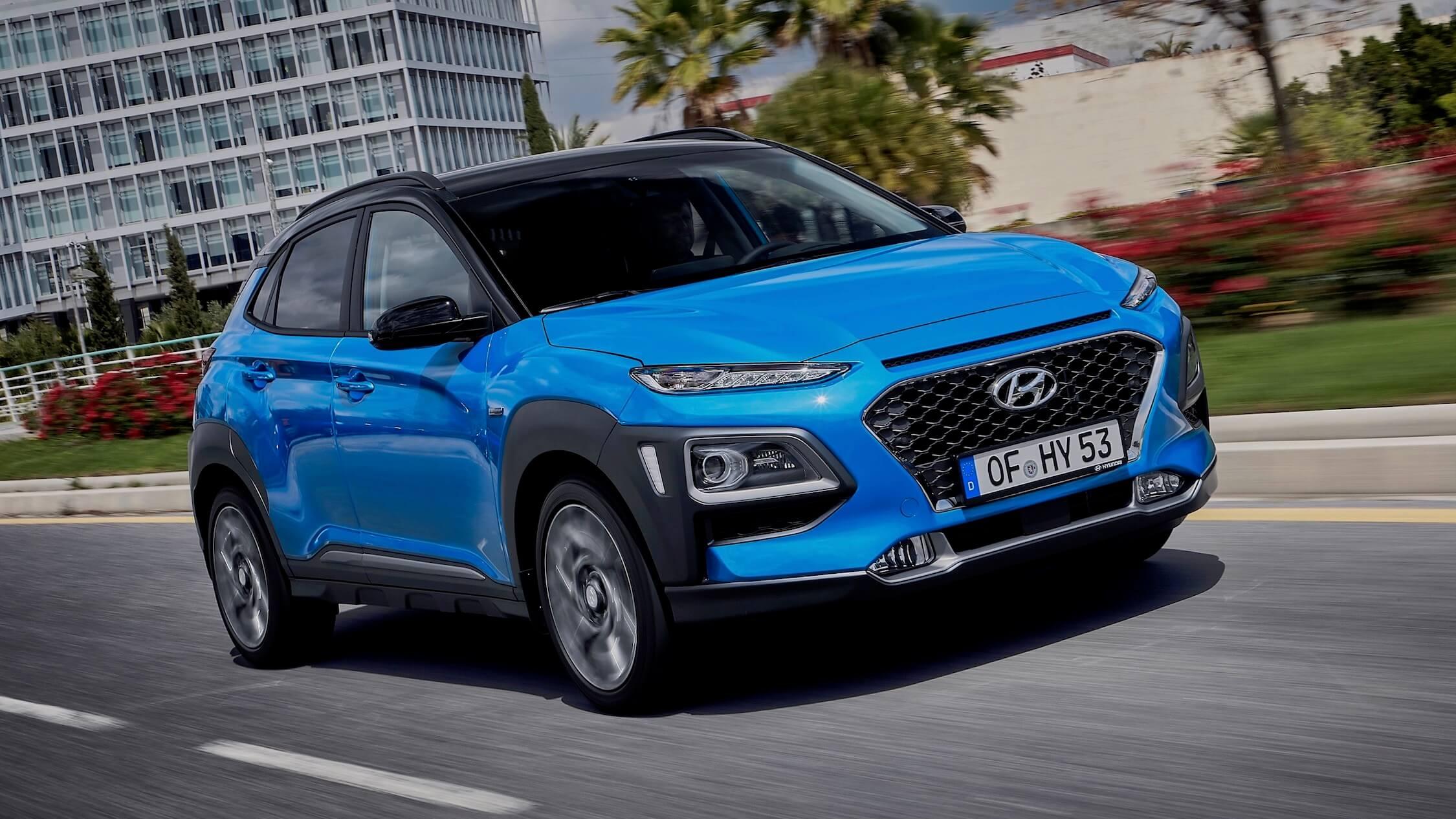 Hyundai Kona hybride voorkant