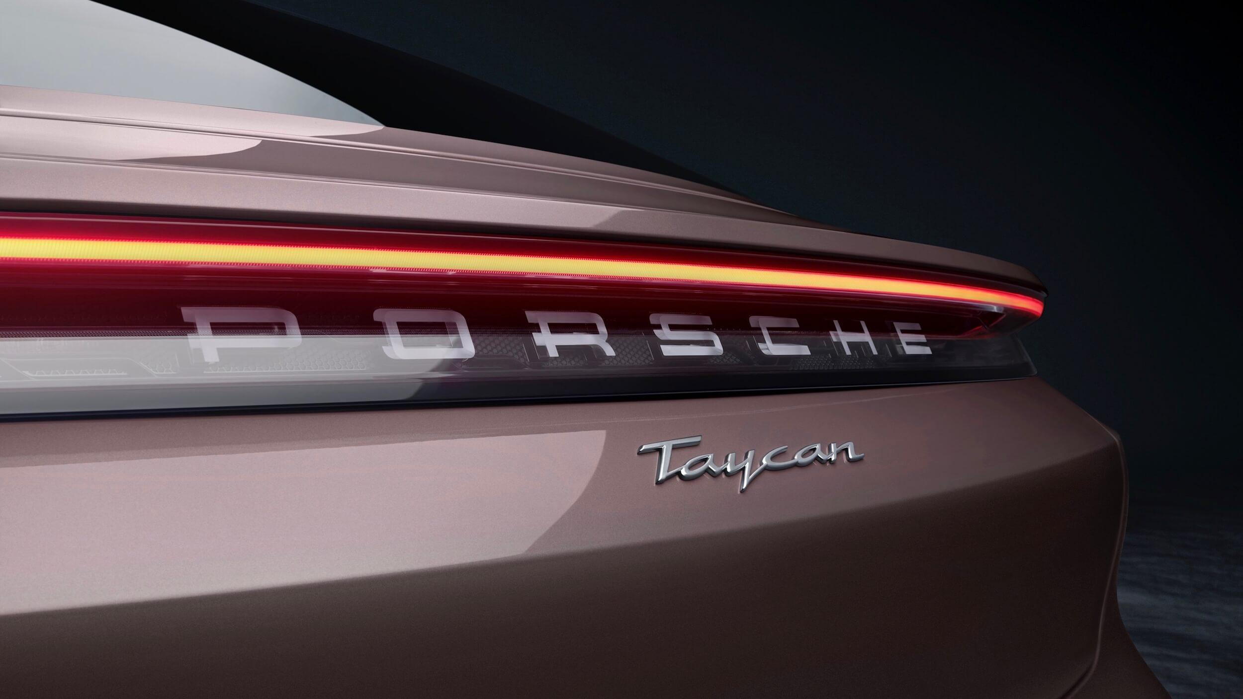 Porsche Taycan badge