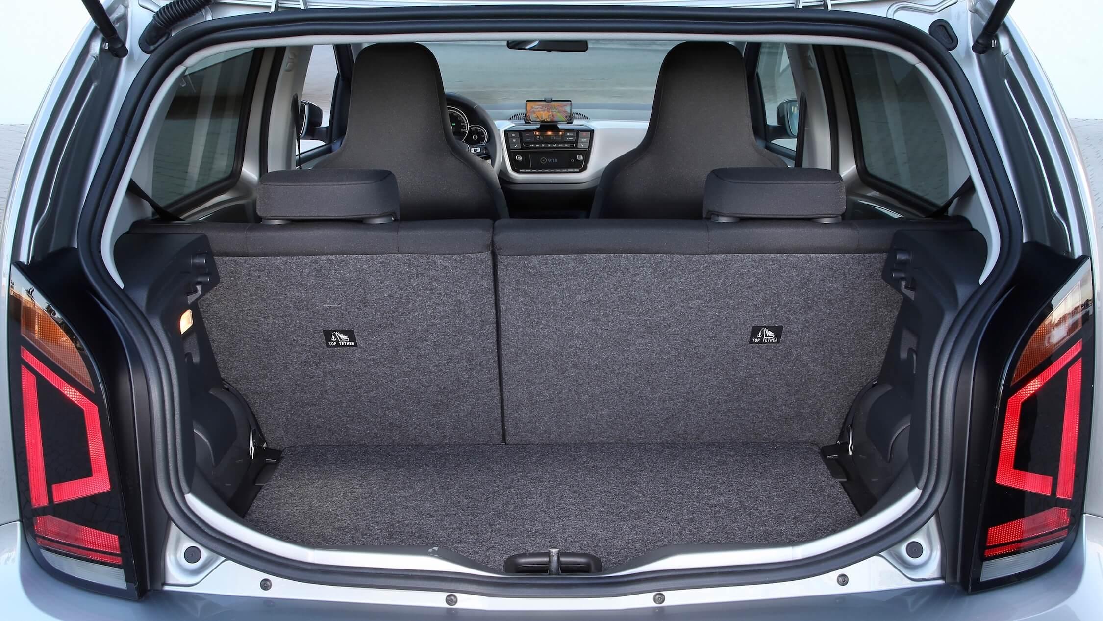 Elektrische Volkswagen e-Up koffer
