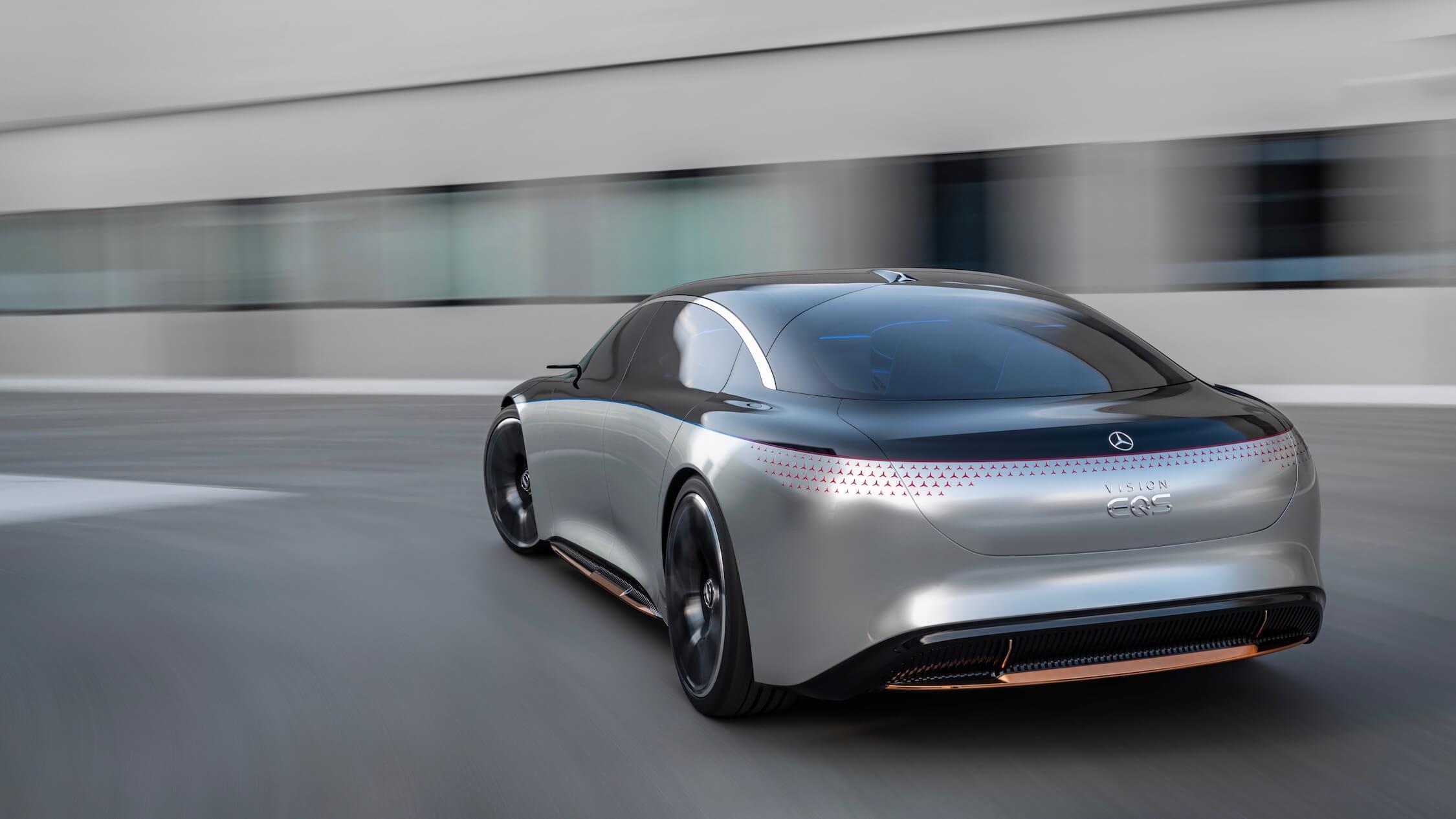 Mercedes EQS Vision achterkant