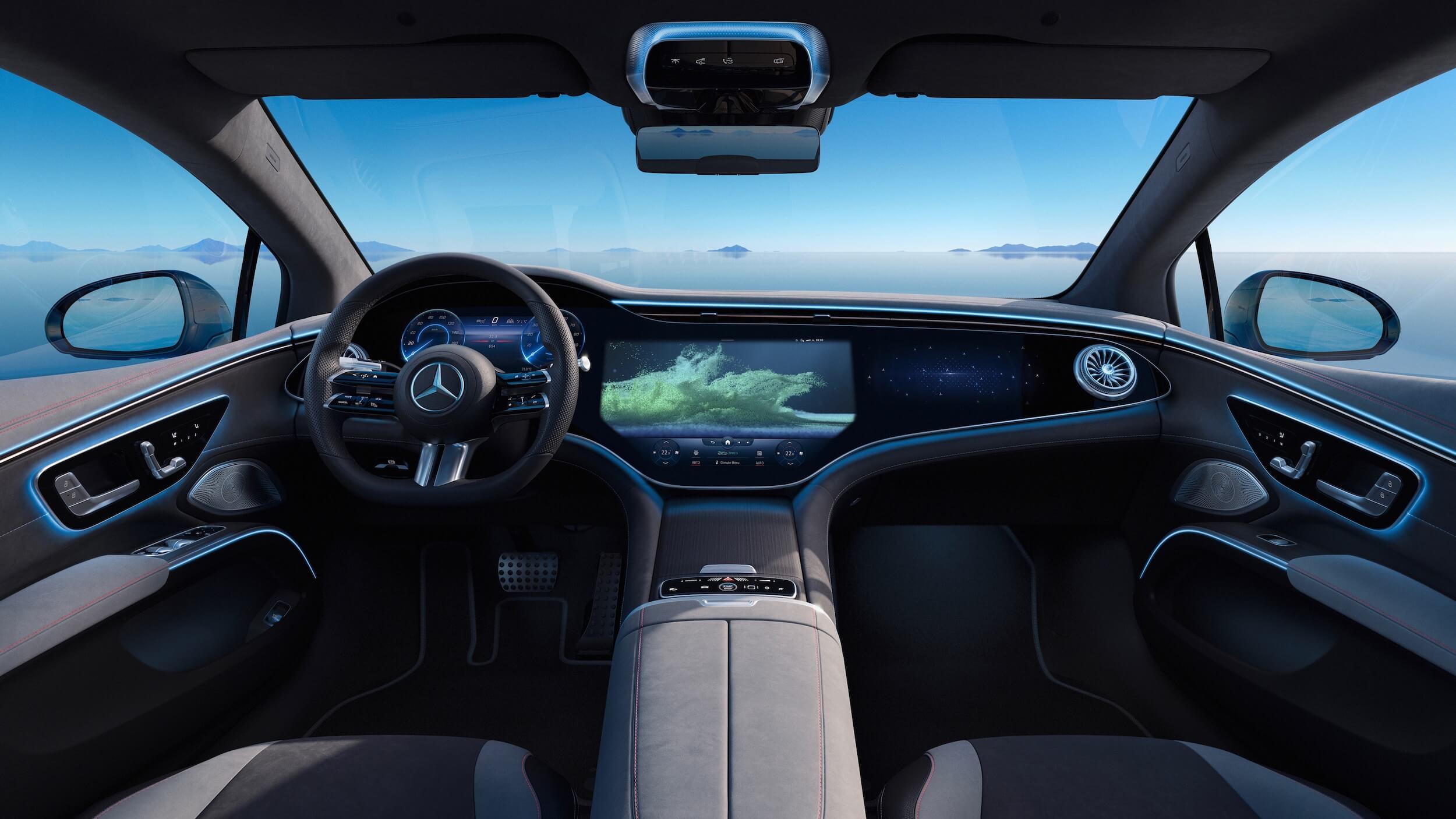 Mercedes EQS dashboard