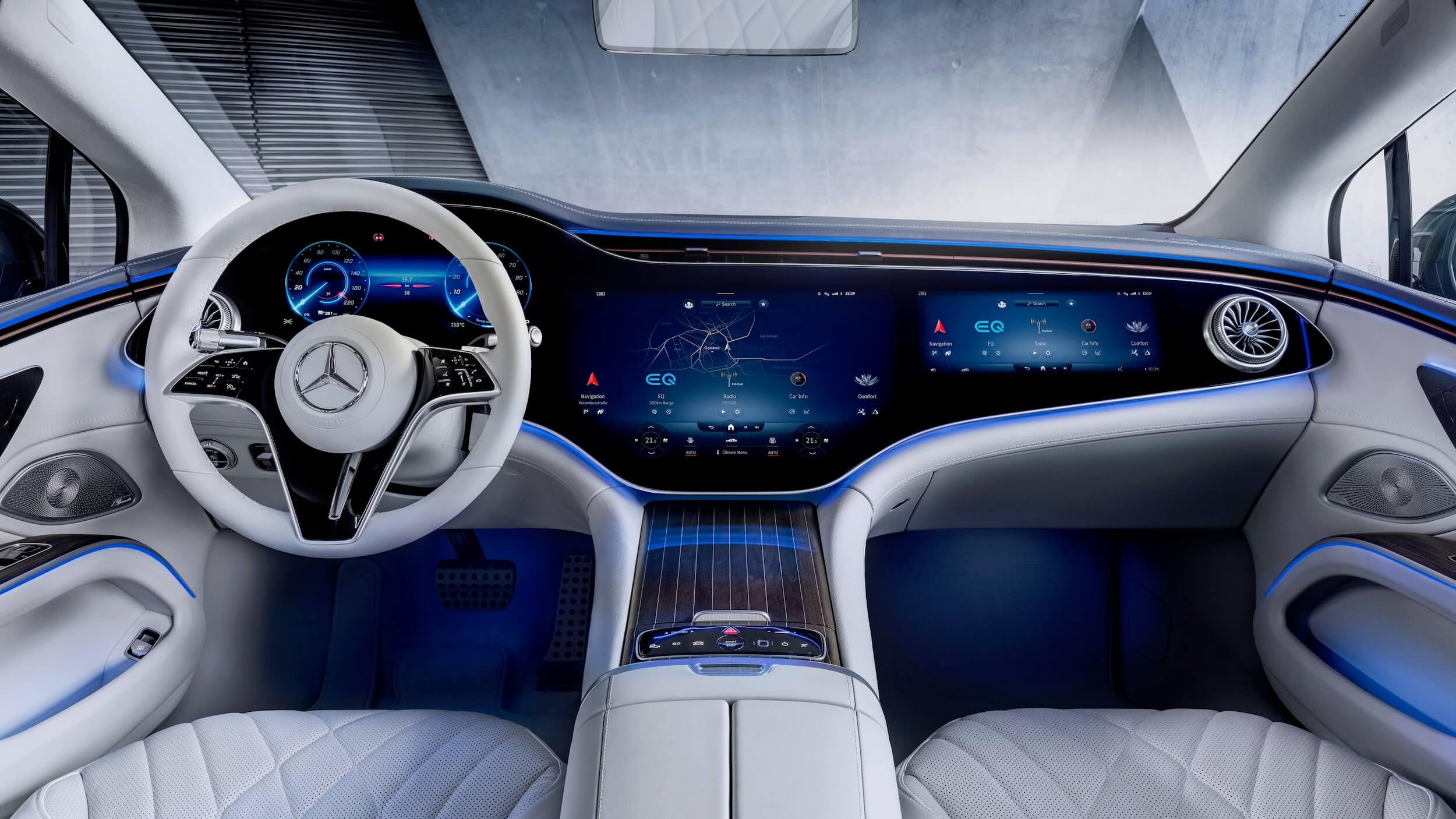 Mercedes EQS interieur beige