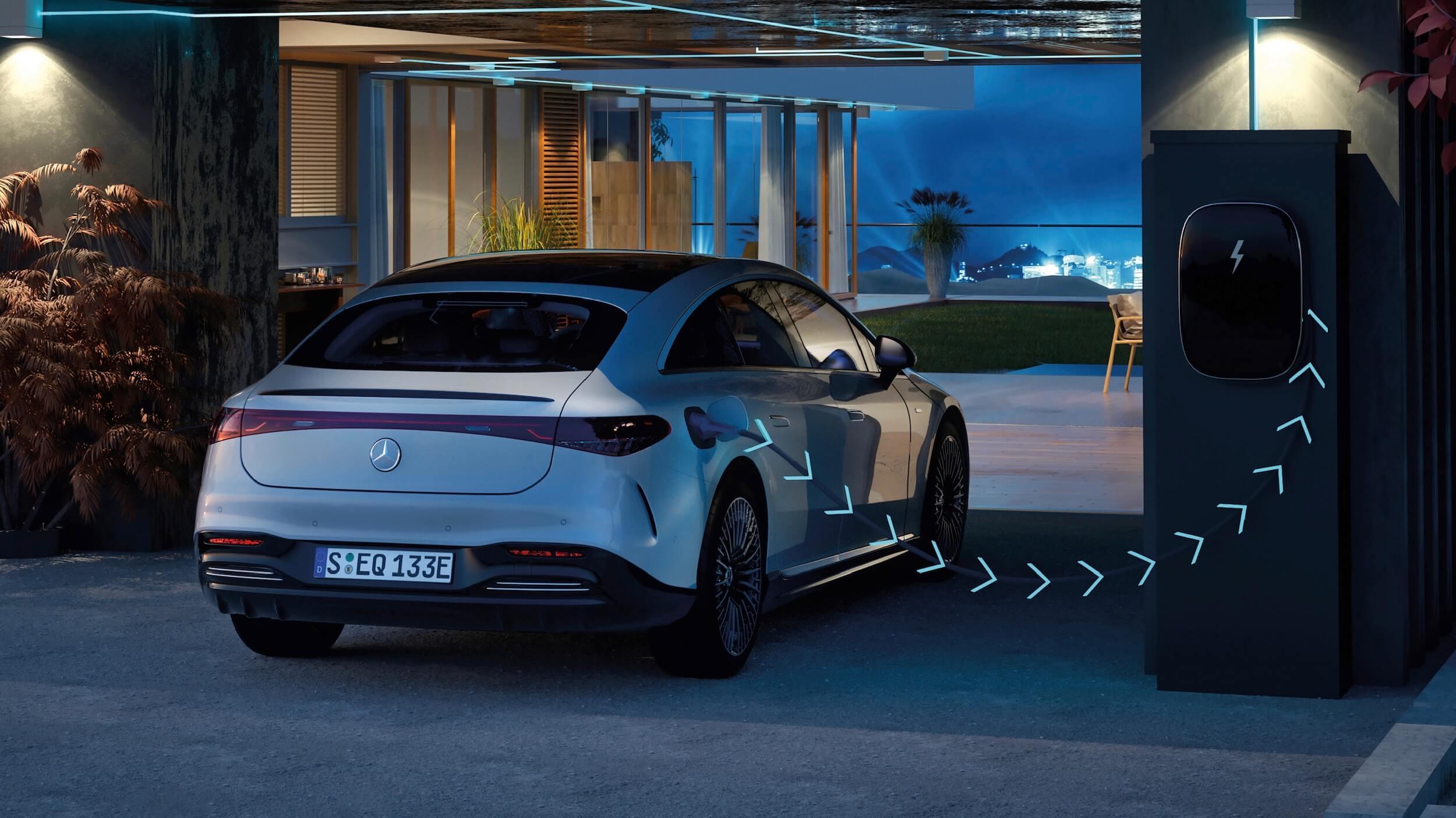 Mercedes EQS vehicle to grid