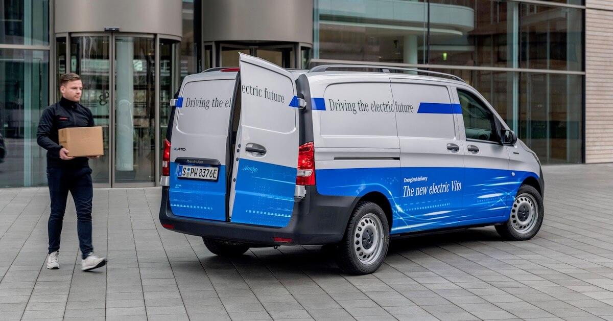 Mercedes eVito elektrische bestelwagen laadruimte