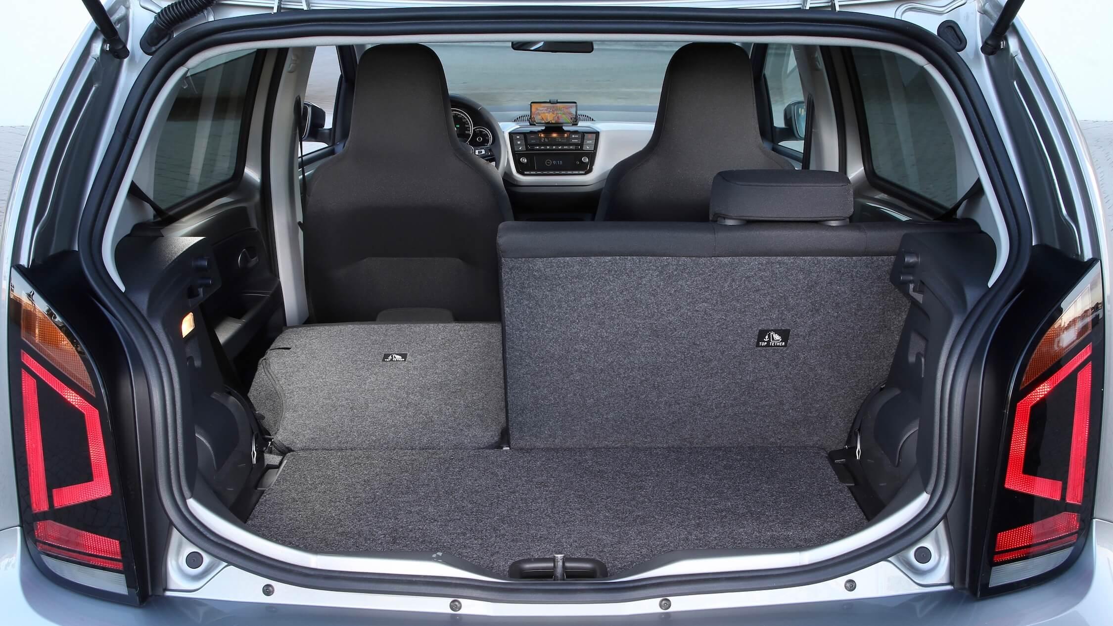 Volkswagen e-Up achterbank neergeklapt