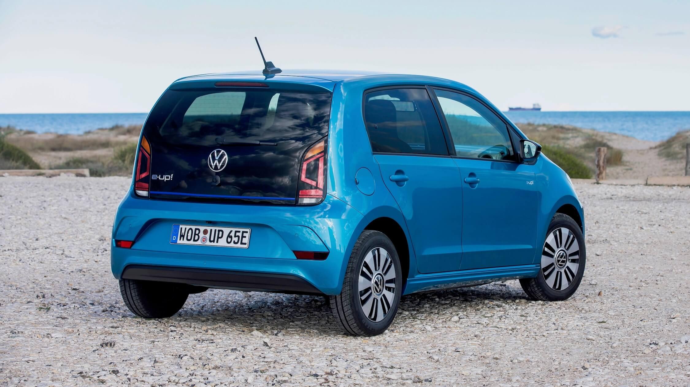 Volkswagen e-Up blauw