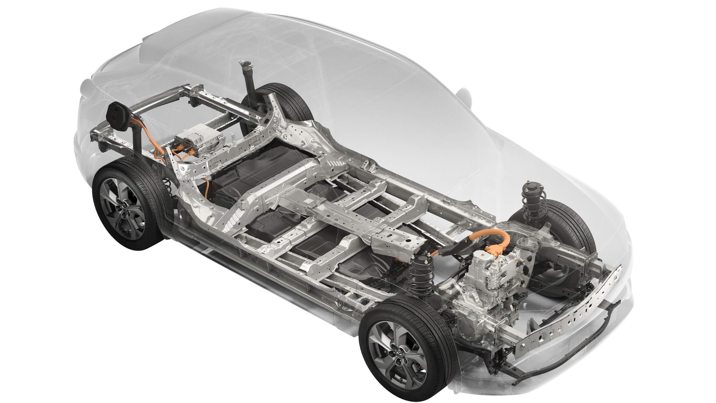 Mazda MX 30 batterij aandrijflijn