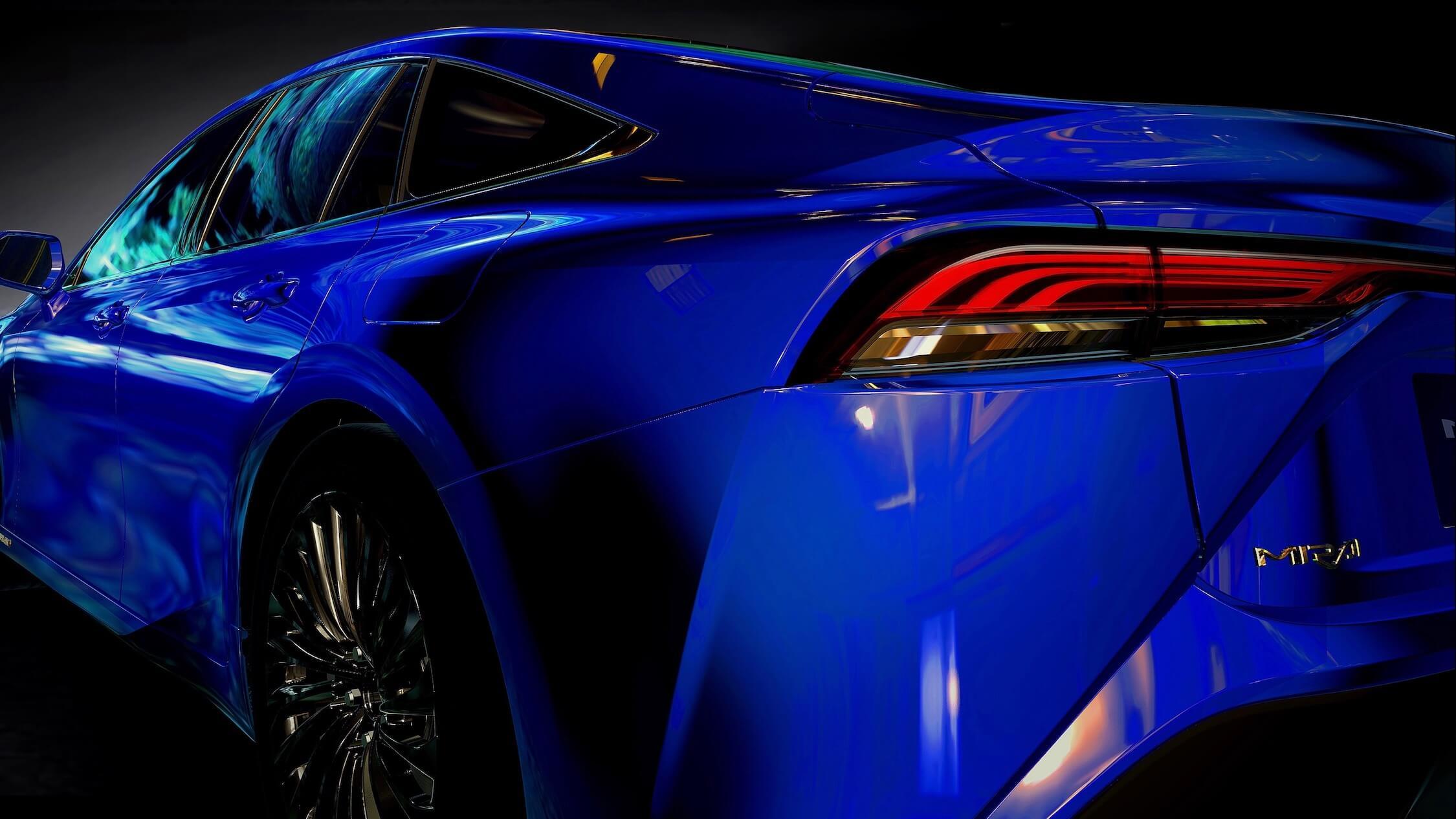 Nieuwe Toyota Mirai achterlicht