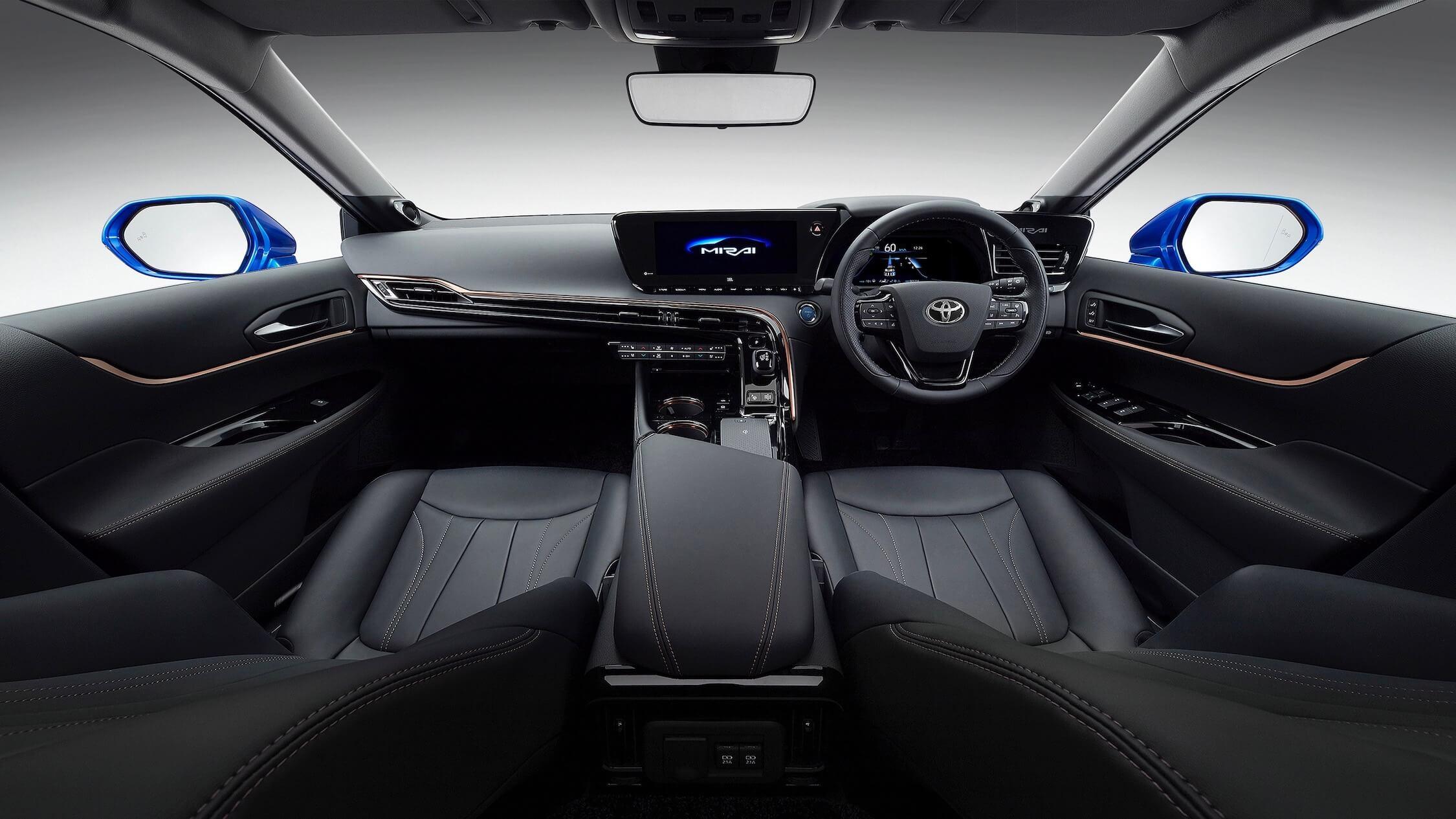 Nieuwe Toyota Mirai interieur