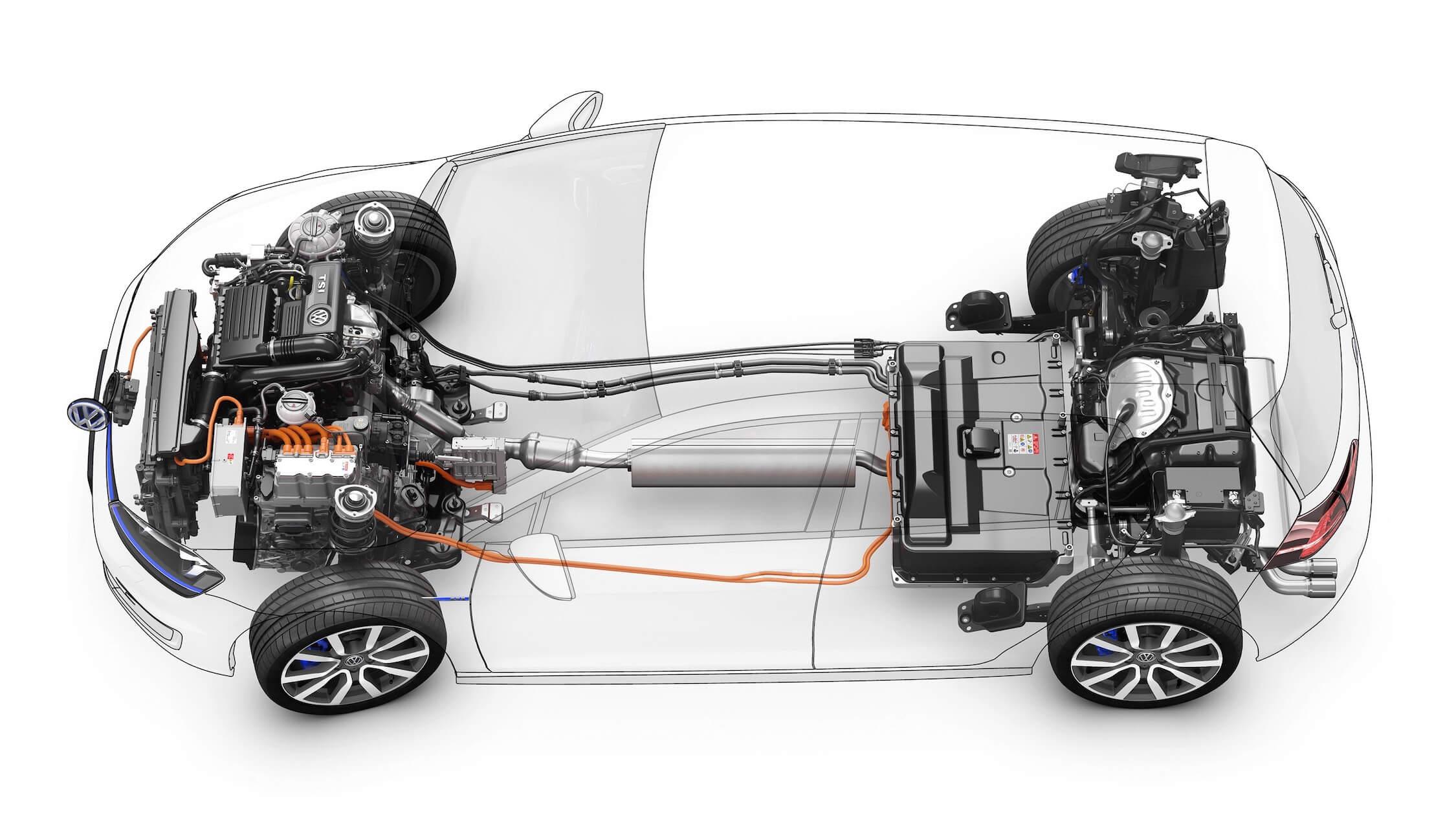 VW Golf GTE aandrijflijn
