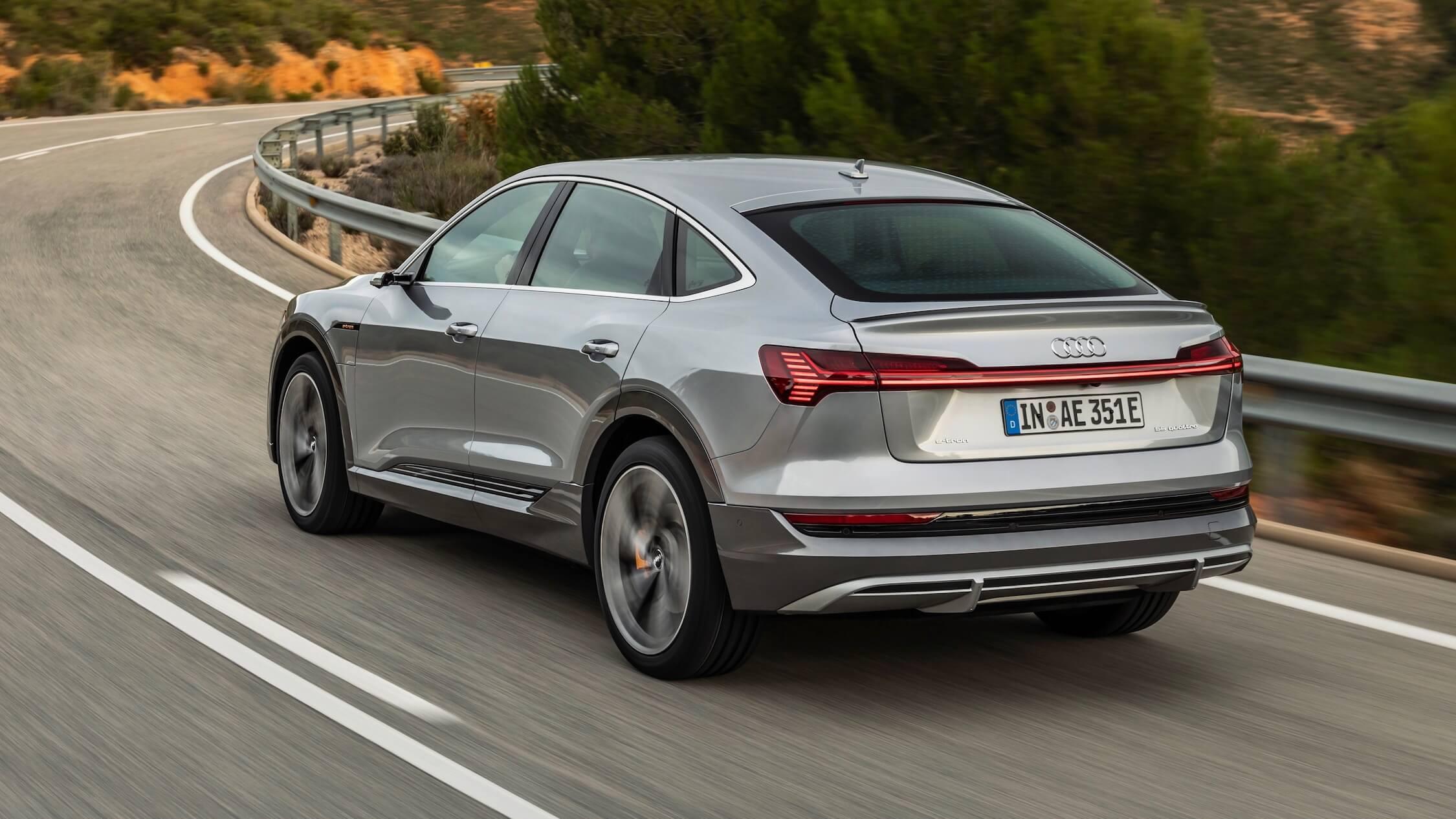 Audi e-tron Sportback grijs