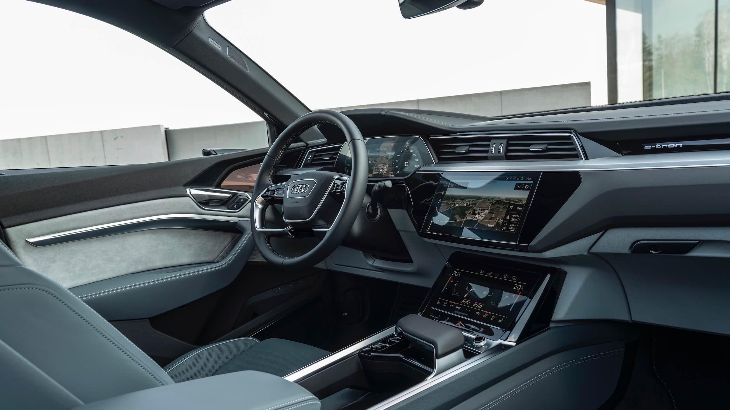 Audi e tron Sportback interieur en dashboard