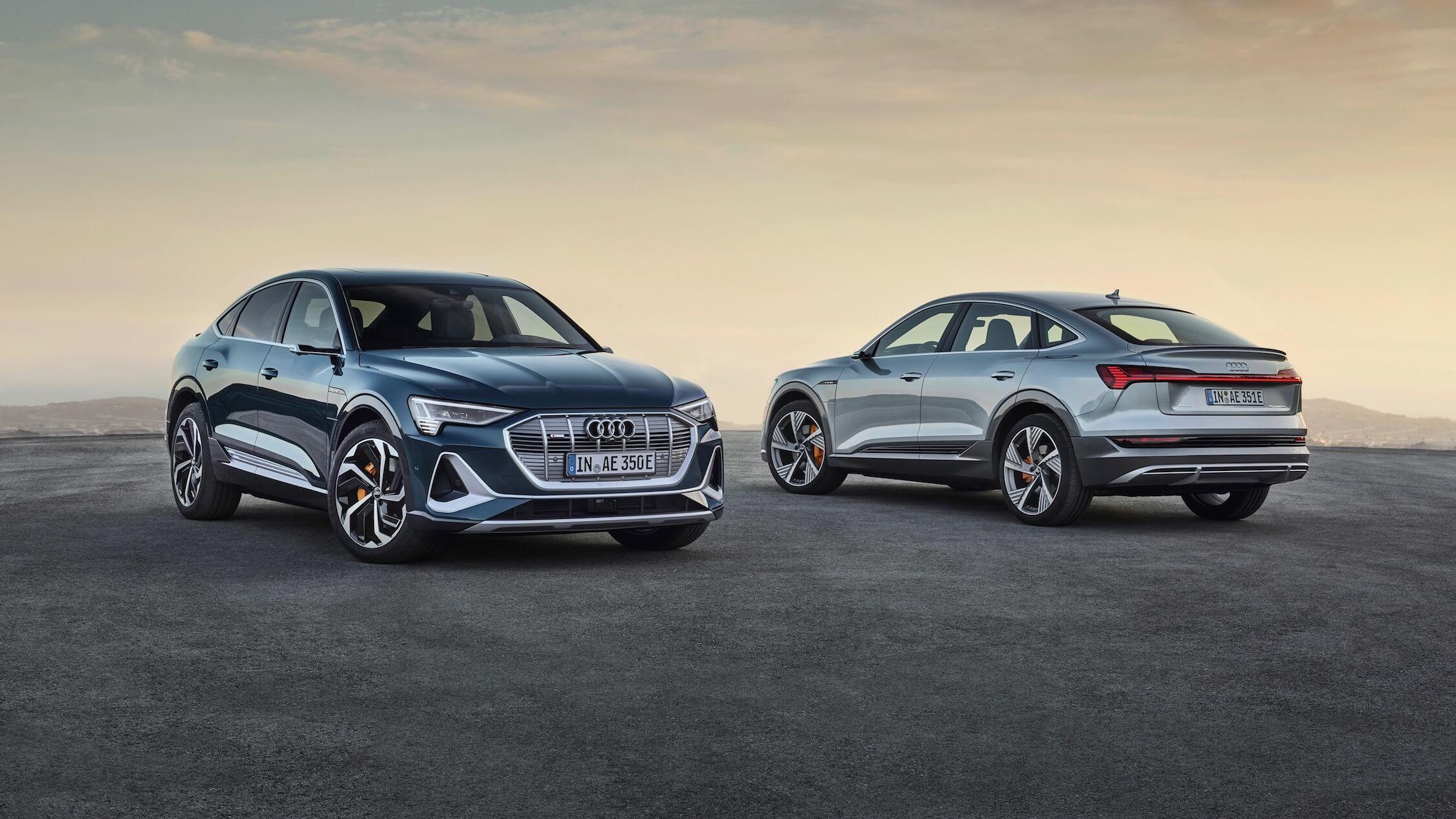Audi e-tron Sportback voor en achter
