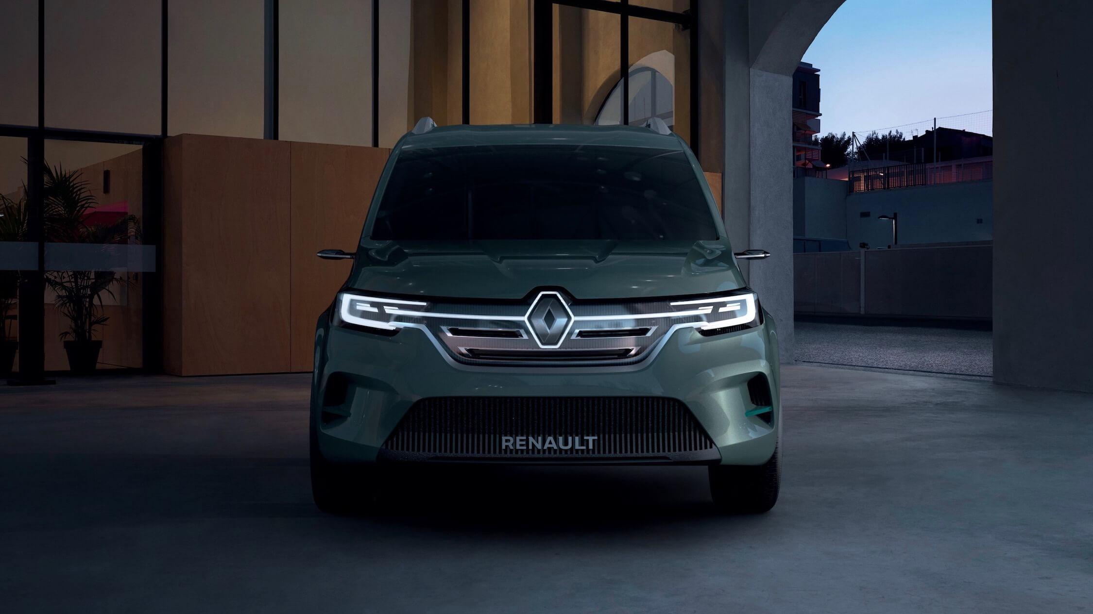Nieuwe Renault Kangoo ZE voorkant