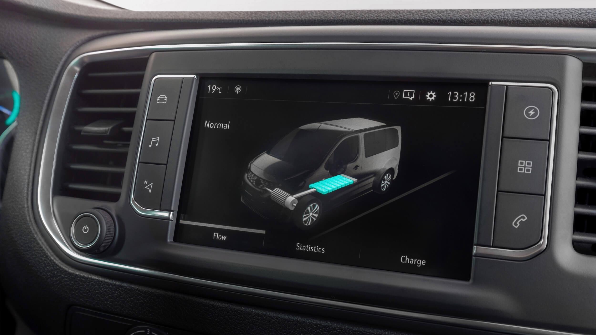 Opel Vivaro e infotainment scherm