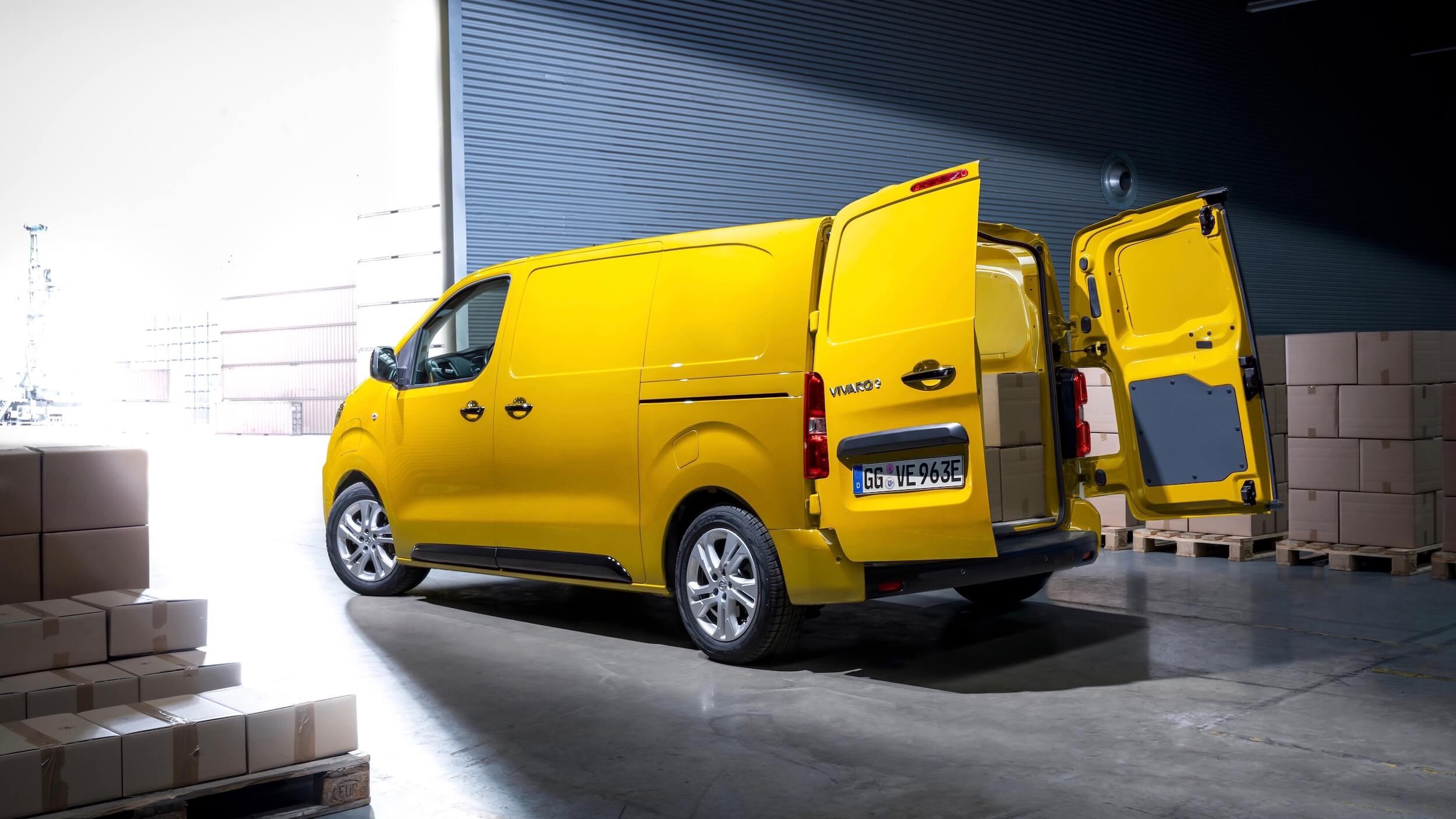 Opel Vivaro e laadruimte
