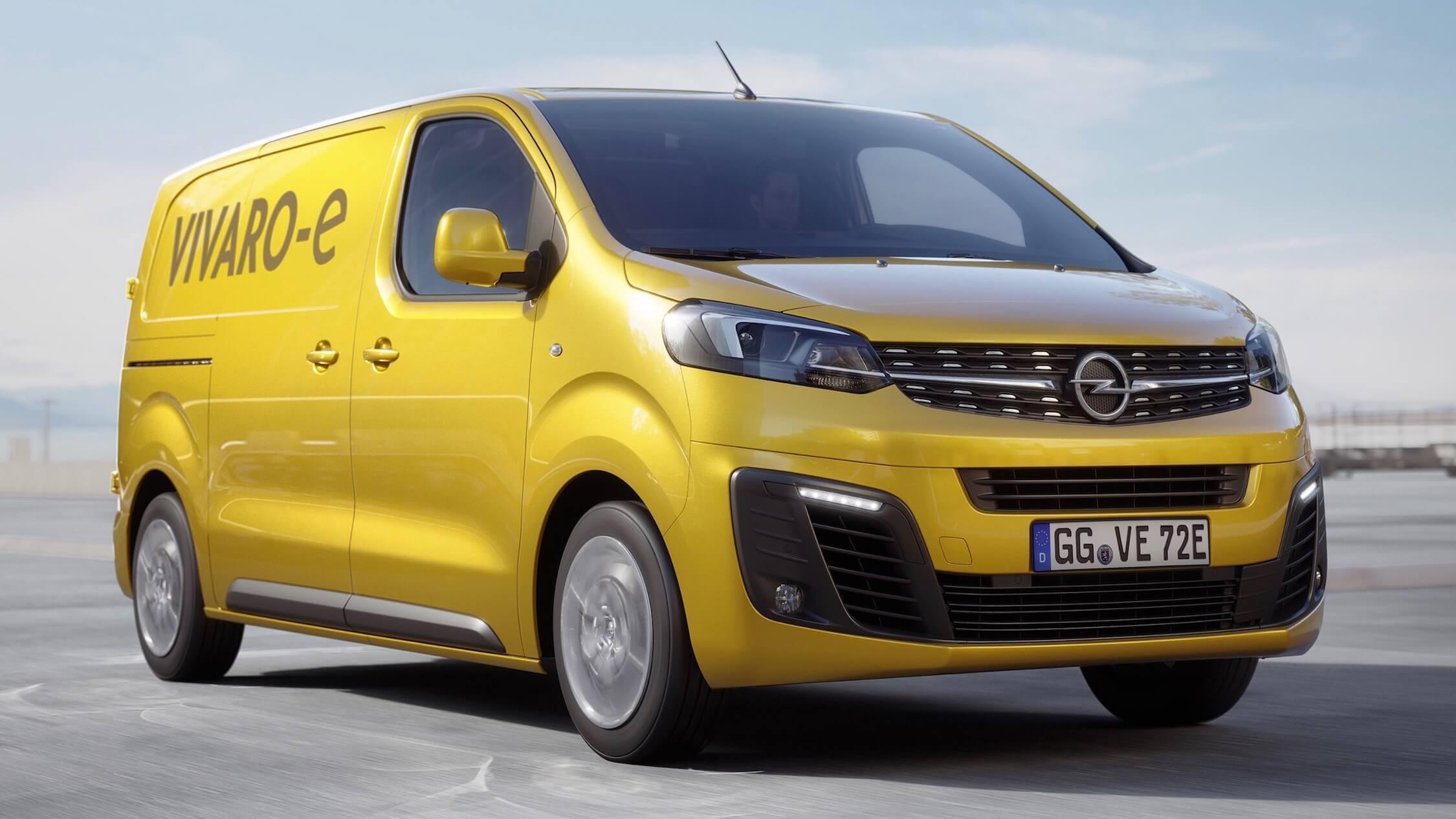 Opel Vivaro elektrische bestelwagen