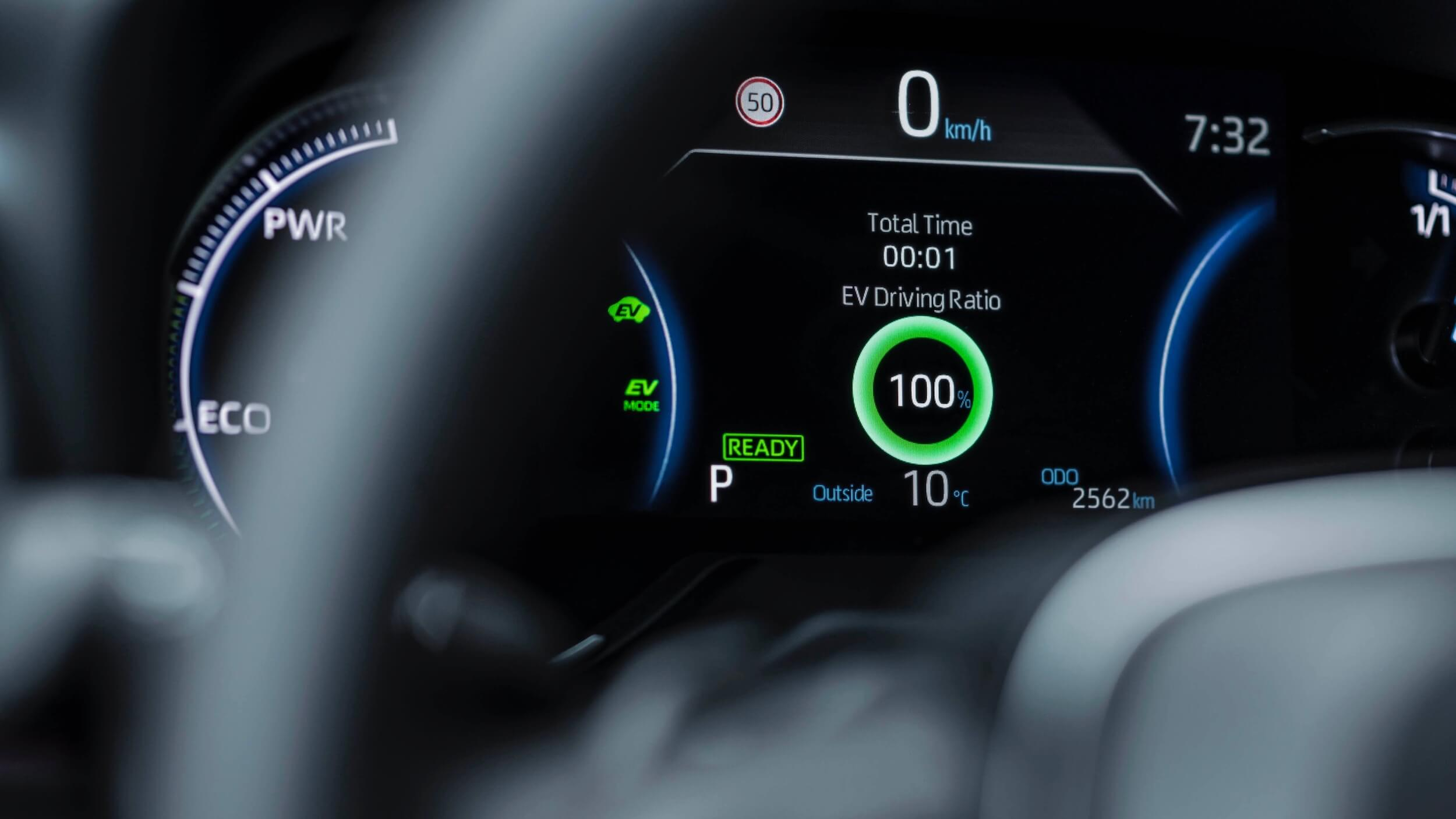 Toyota RAV4 Plug in hybride tellers