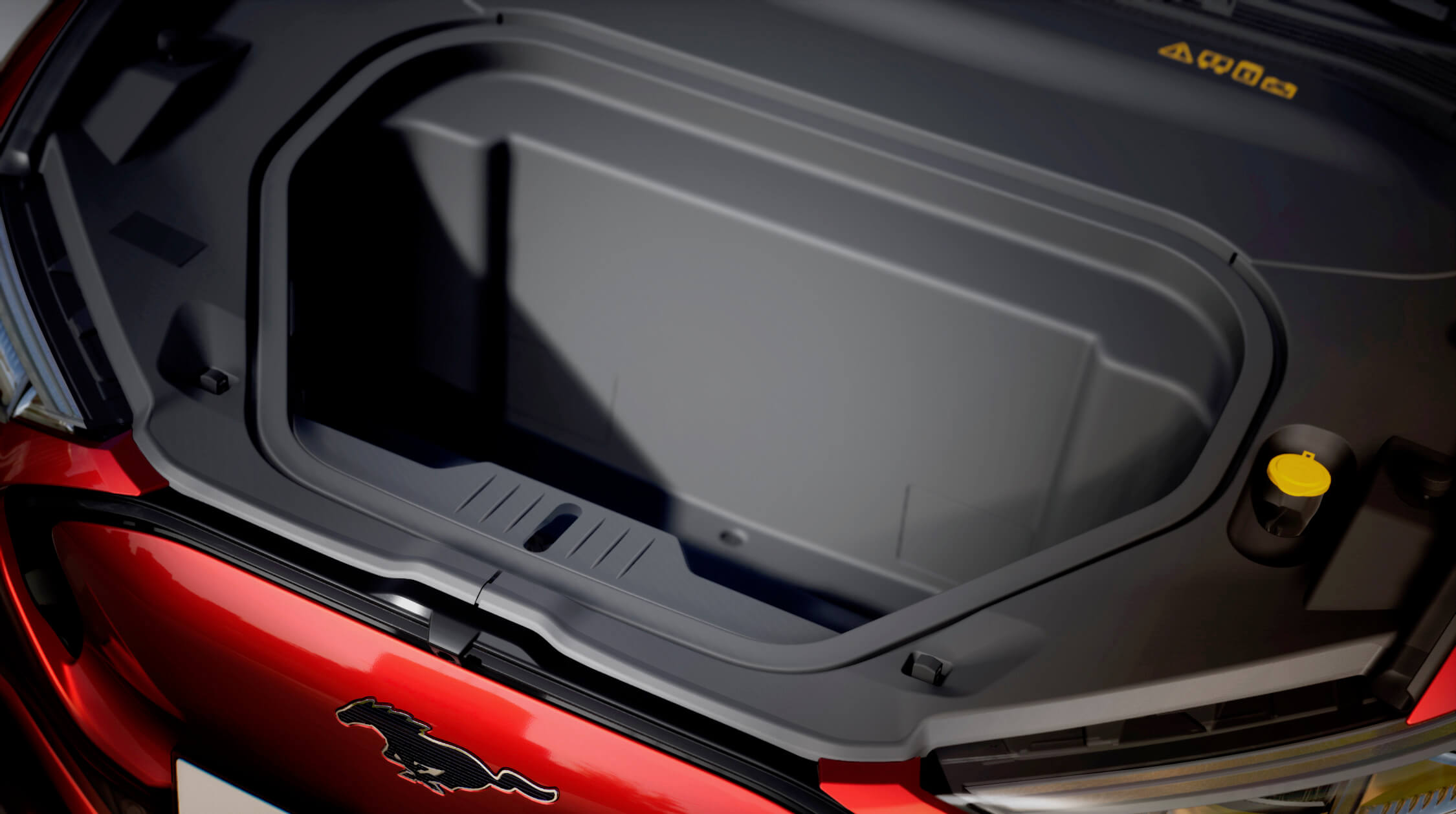 elektrische Ford Mustang frunk