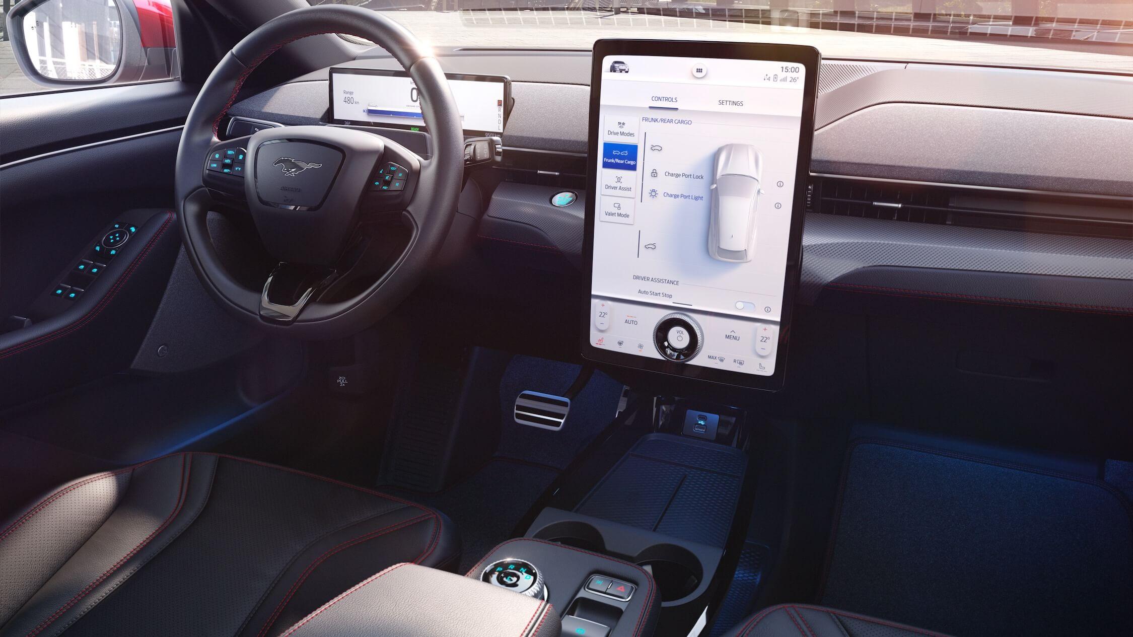 elektrische Ford Mustang interieur