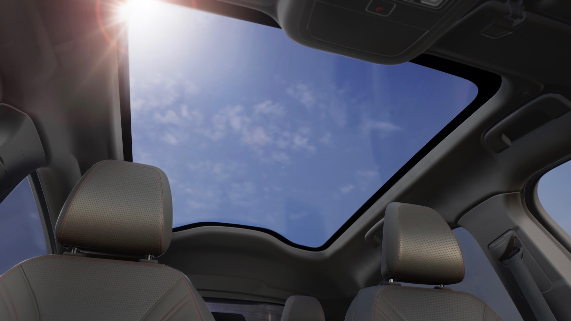 elektrische Ford Mustang panoramisch dak