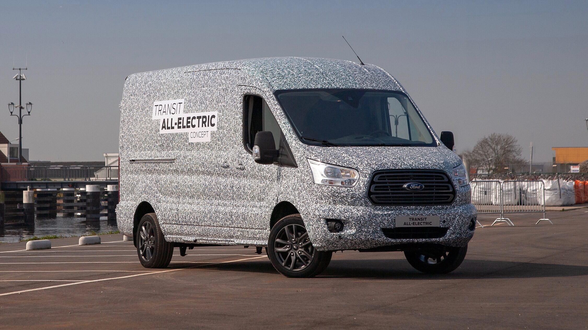 elektrische Ford Transit bestelwagen