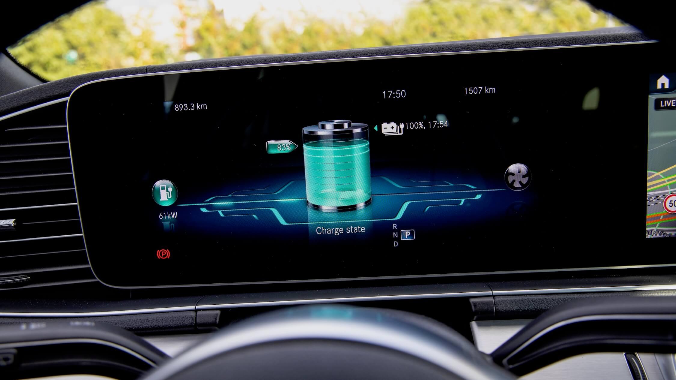 Mercedes GLE 350de scherm