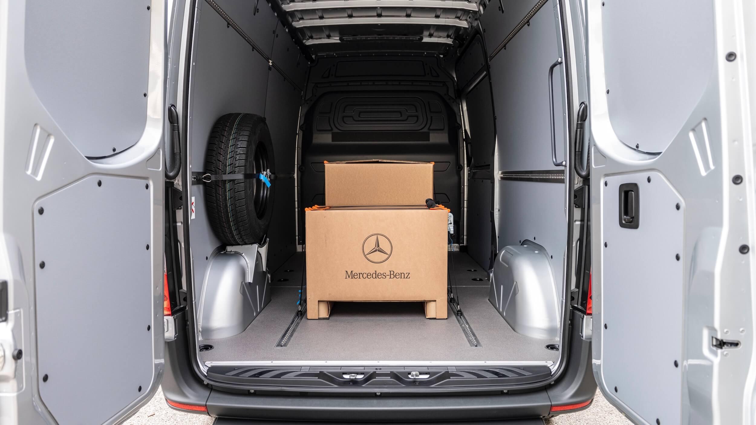 Mercedes eSprinter laadruimte