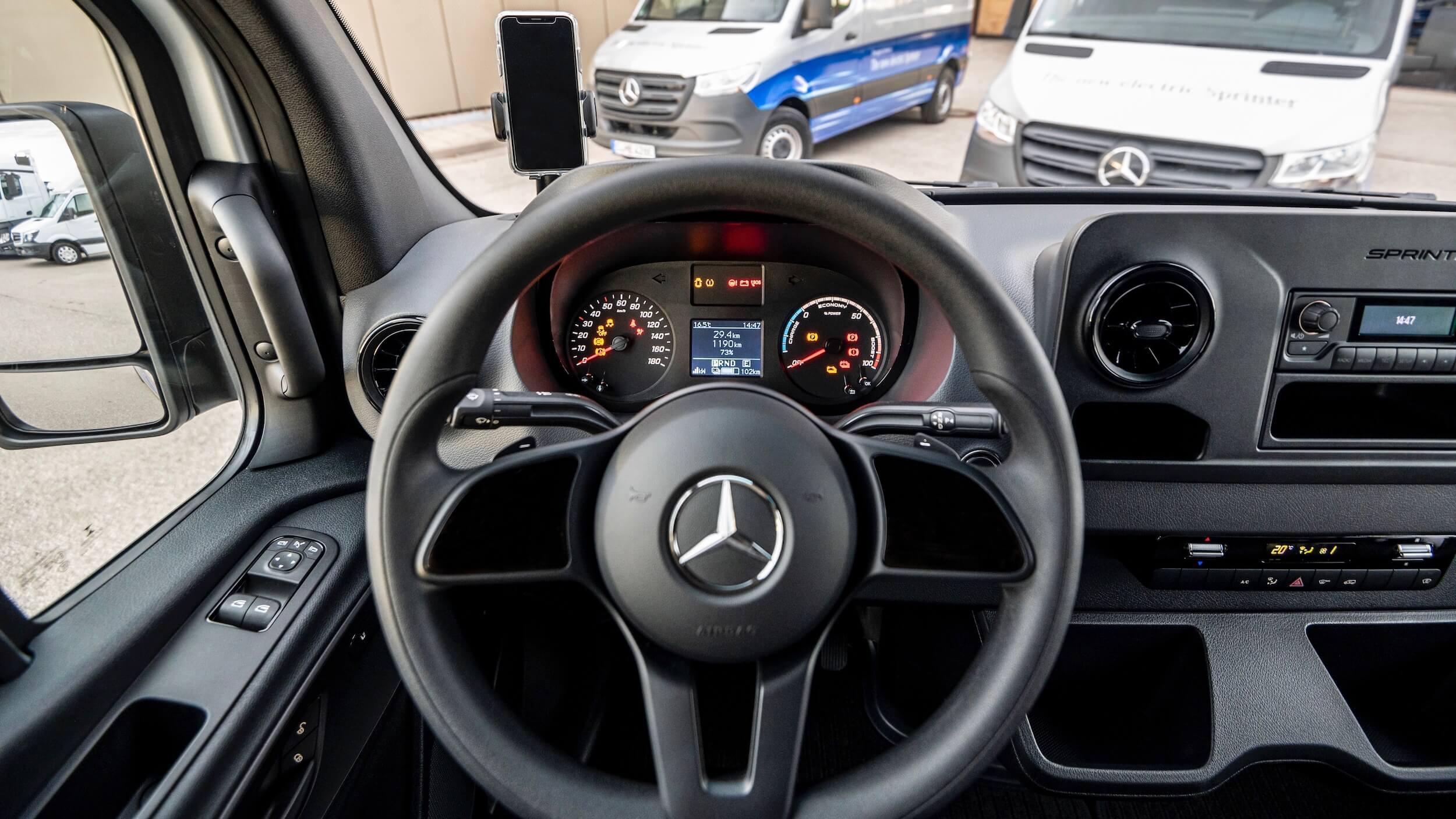 Mercedes eSprinter stuur