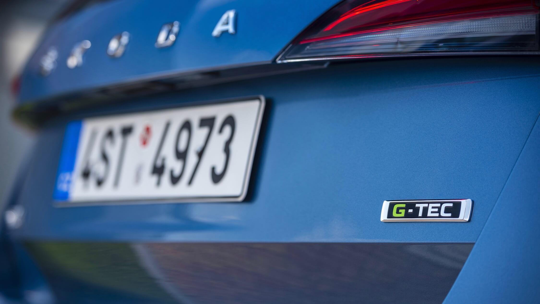 Skoda Scala CNG badge