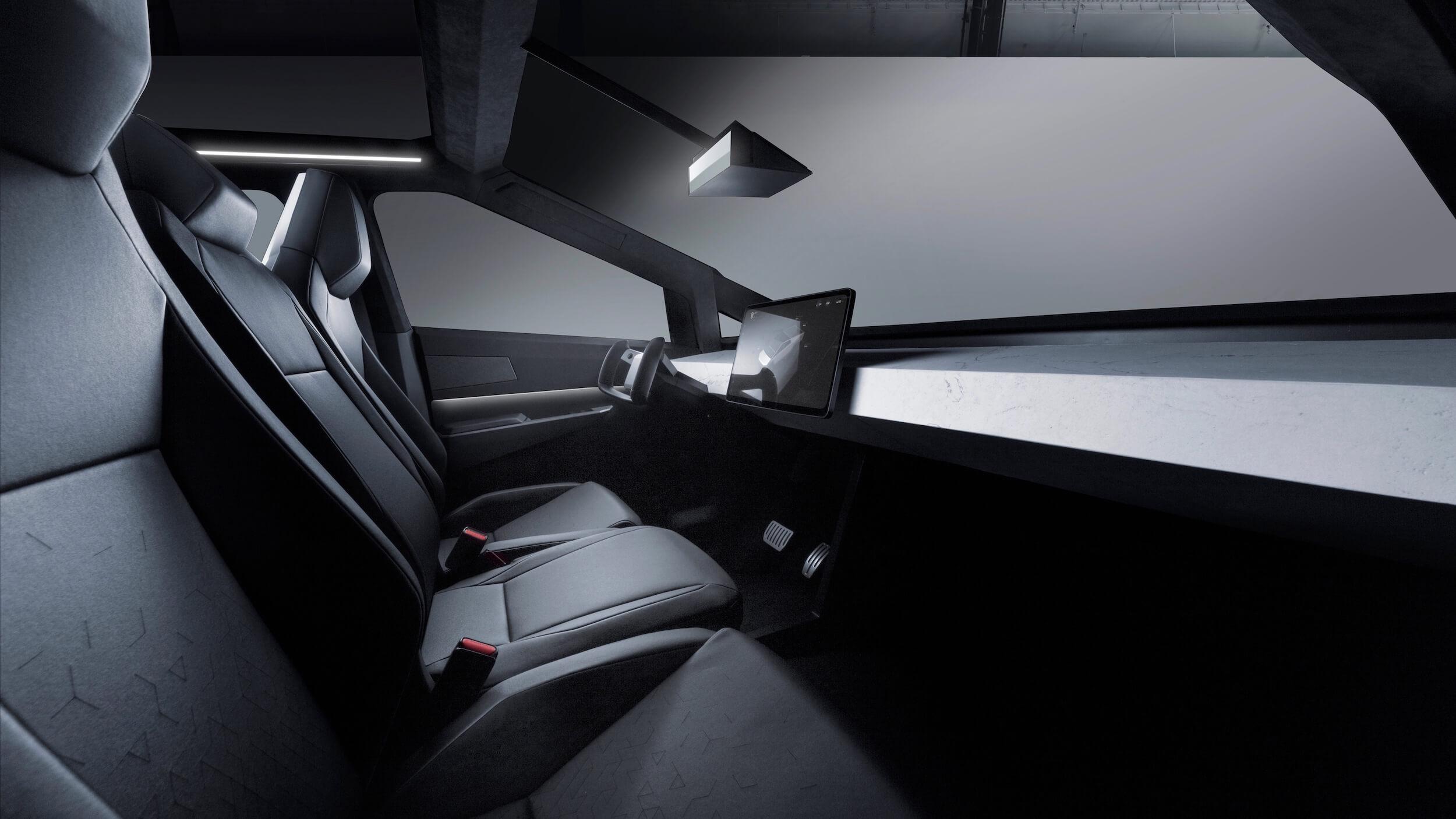 Tesla Cybertruck dashboard interieur