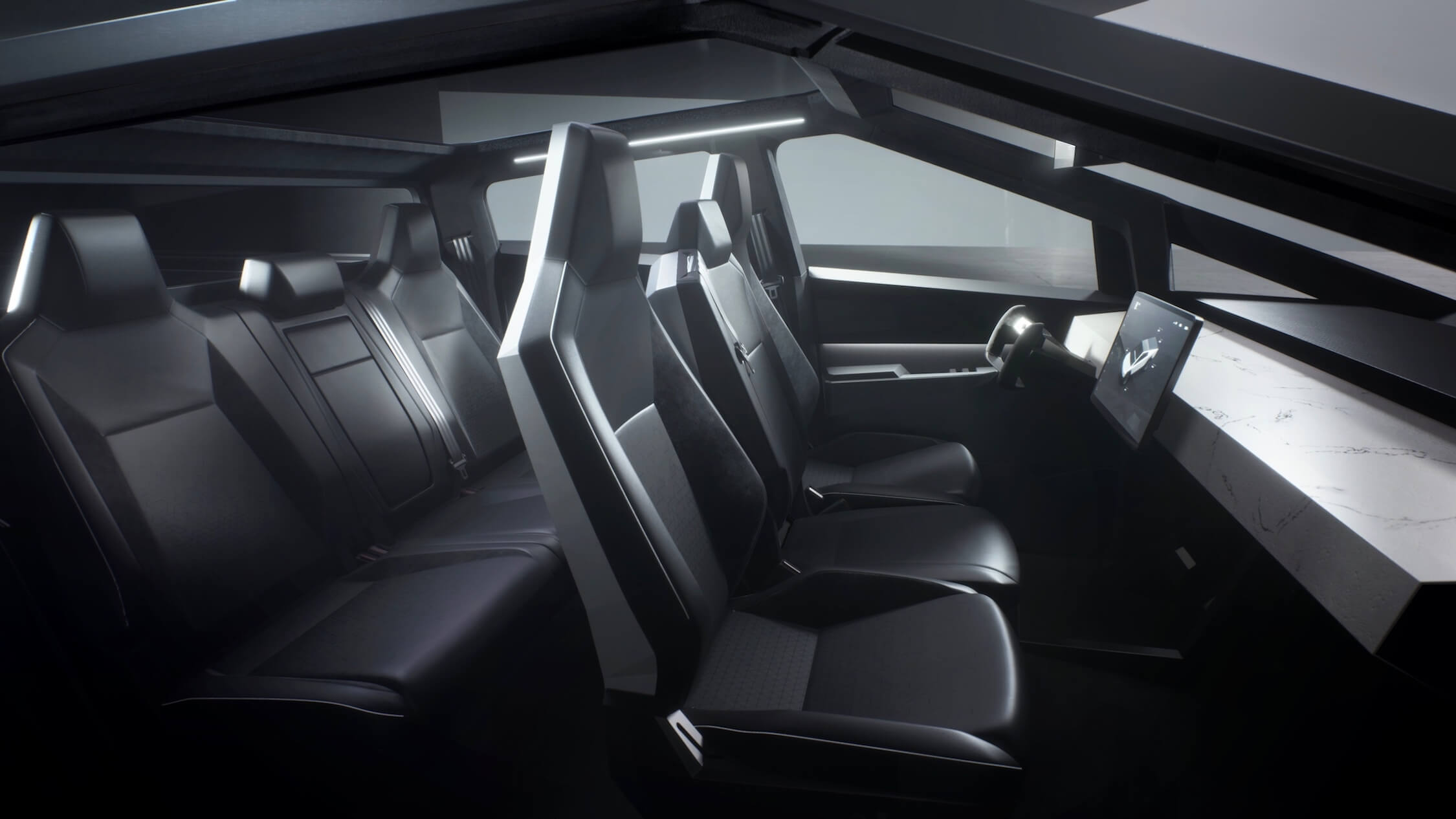Tesla Cybertruck interieur