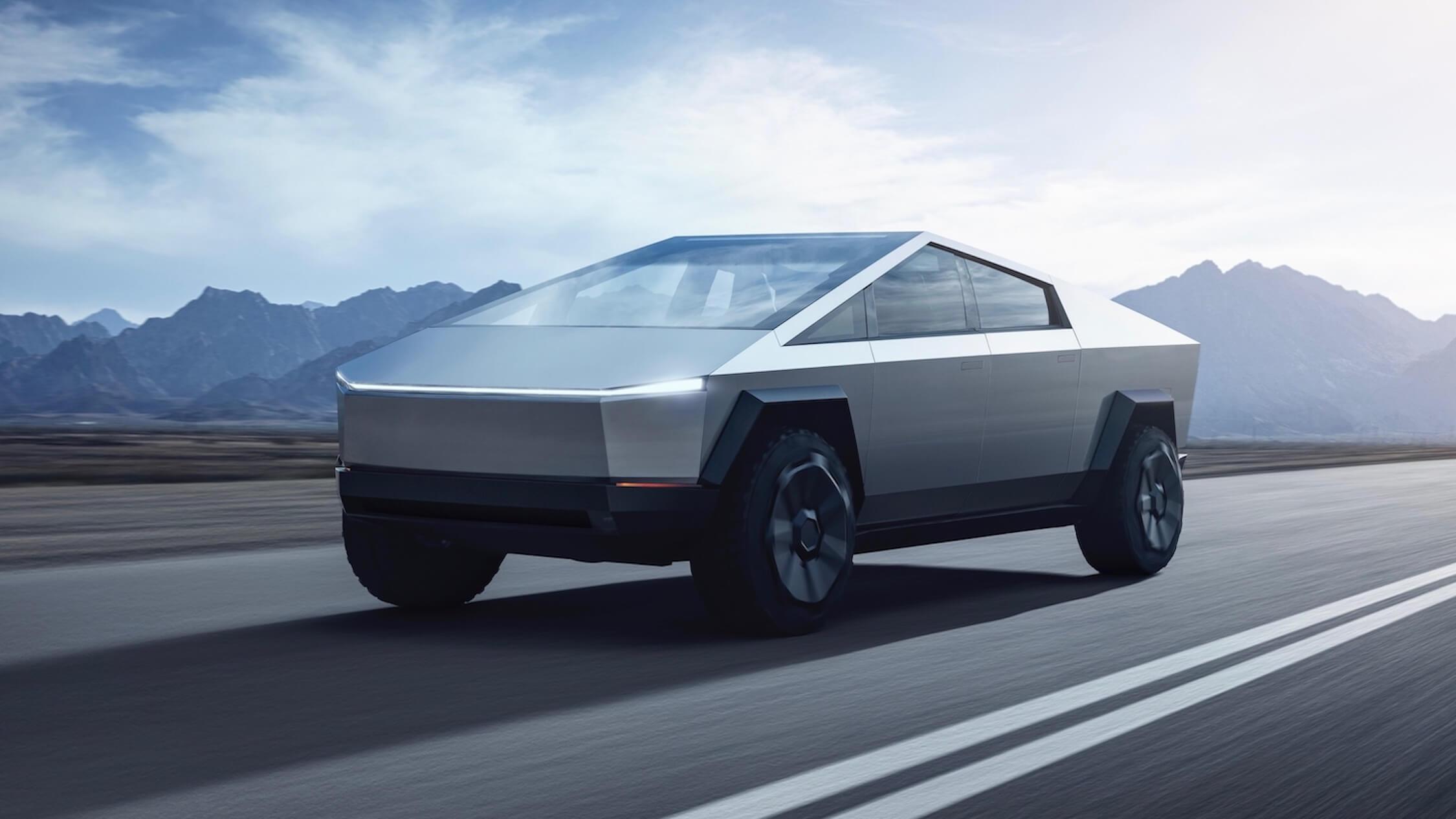 Tesla Cybertruck rijden