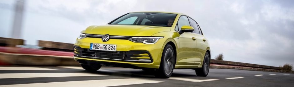 VW Golf 8 geel