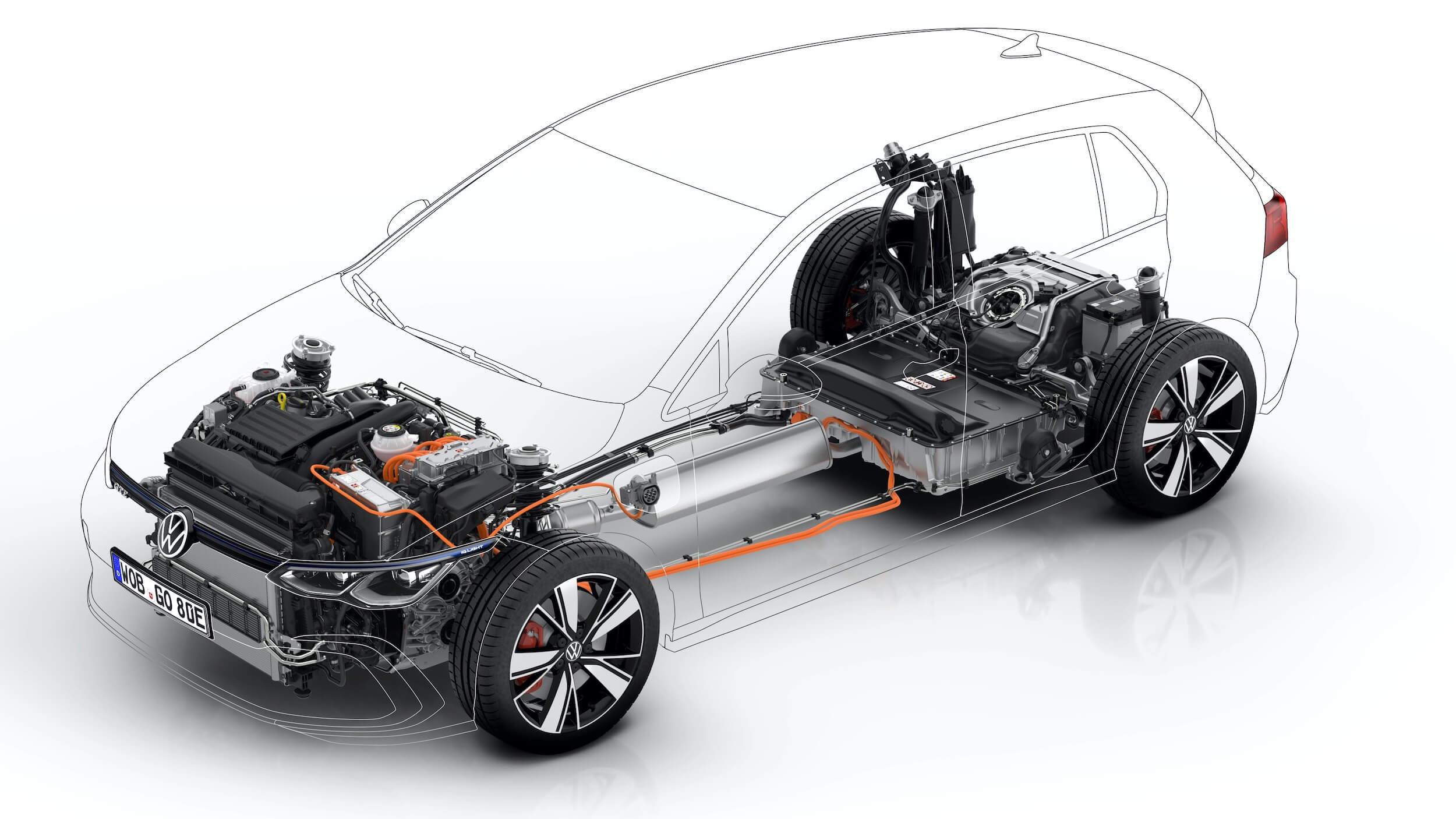 VW Golf VIII GTE aandrijflijn