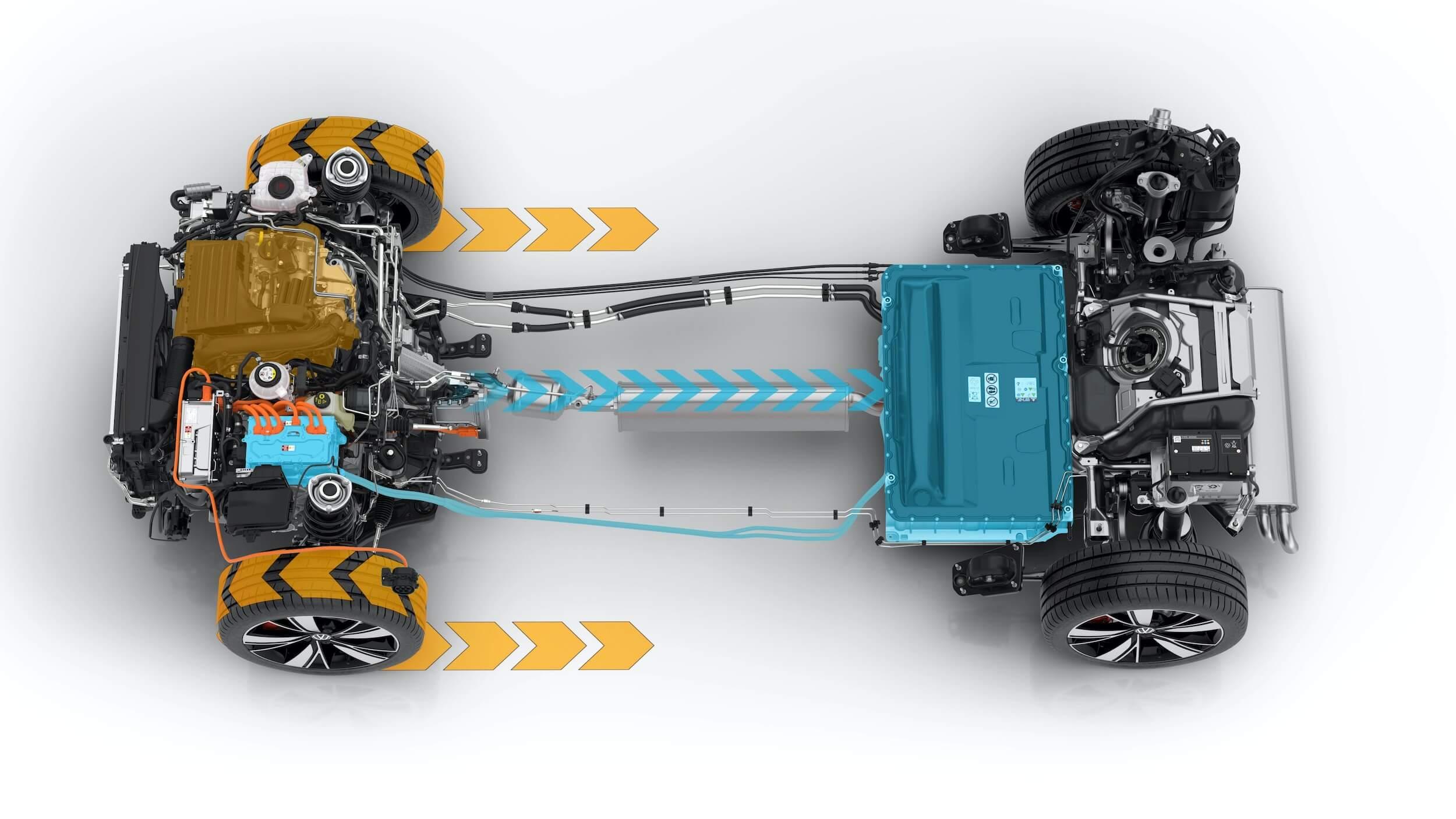 VW Golf VIII GTE batterij