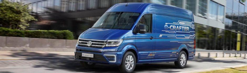 Volkswagen e-Crafter blauw