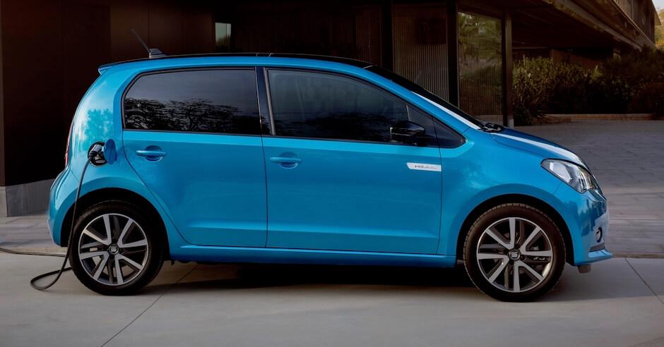 elektrische Seat Mii blauw
